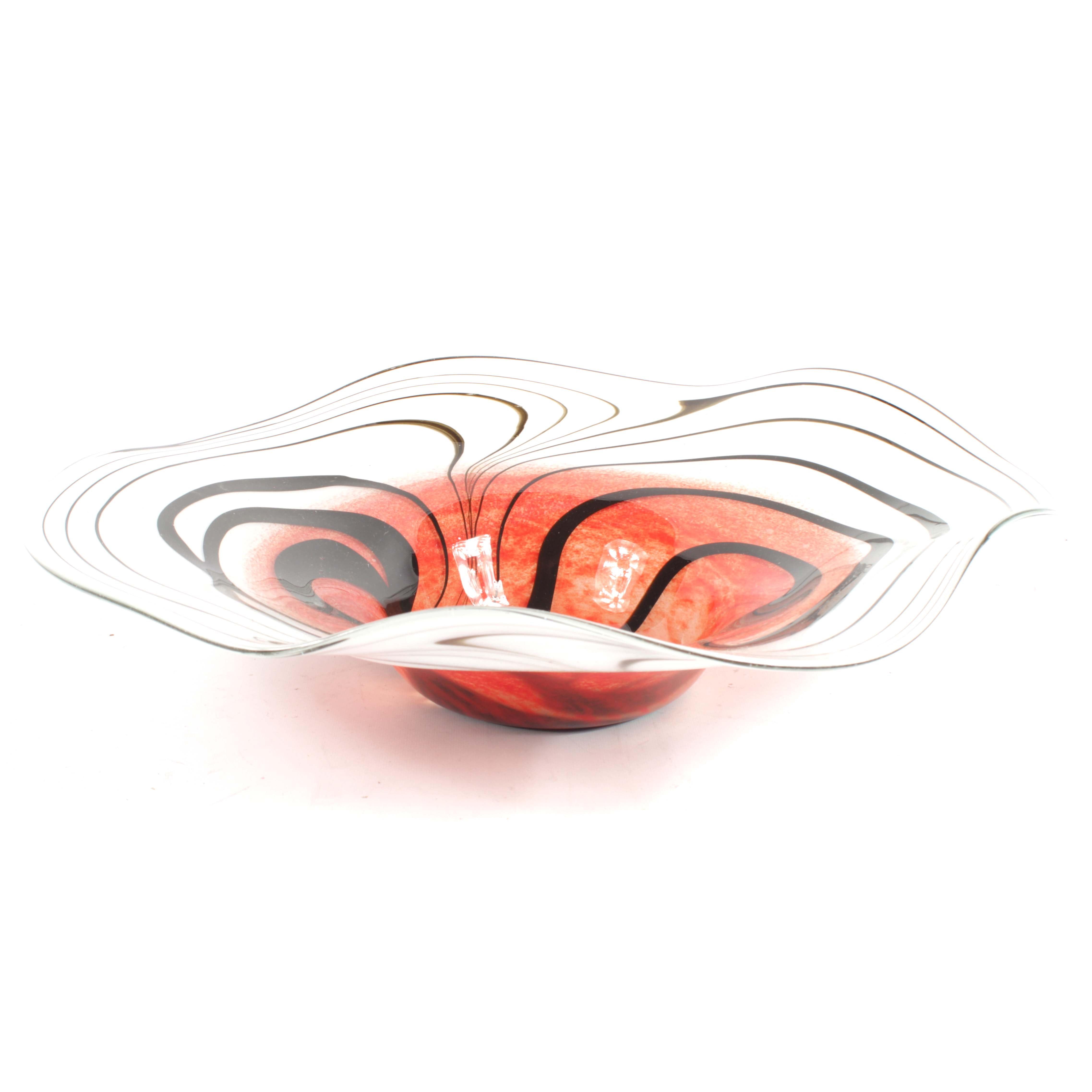 G. Daneau Contemporary Art Glass Bowl