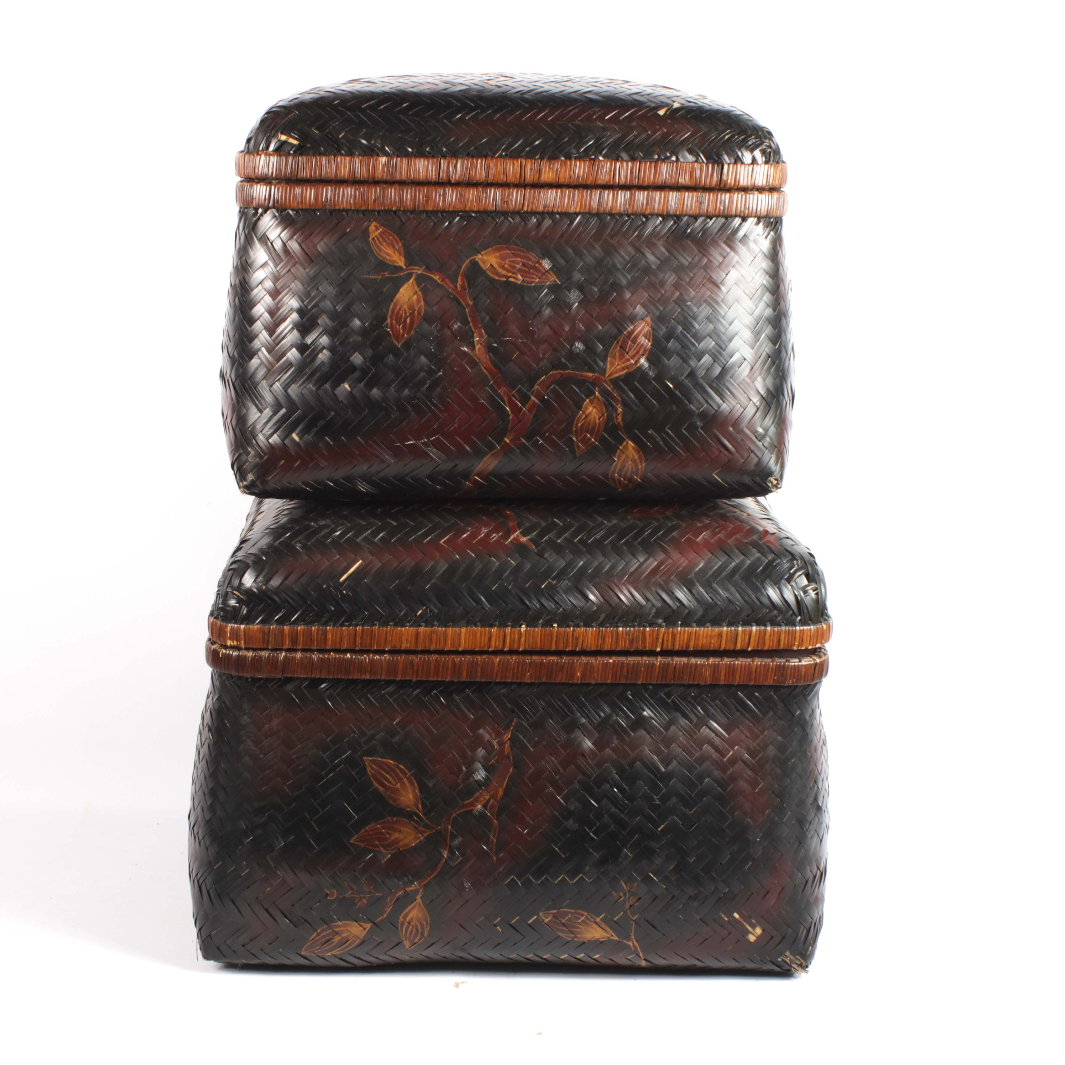Hand Painted Chinese Nesting Baskets