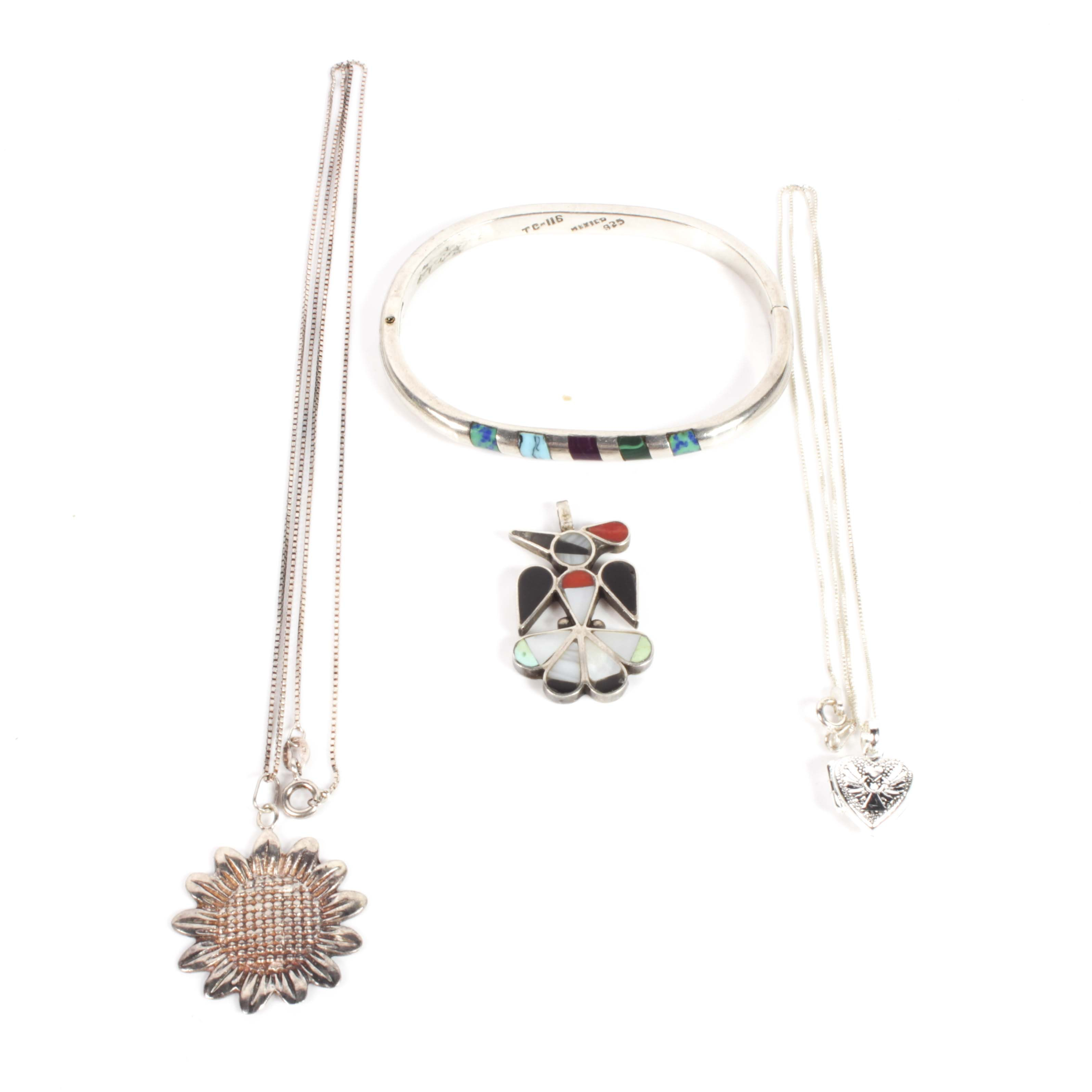 Sterling Silver and Multi-Gemstone Jewelry Grouping