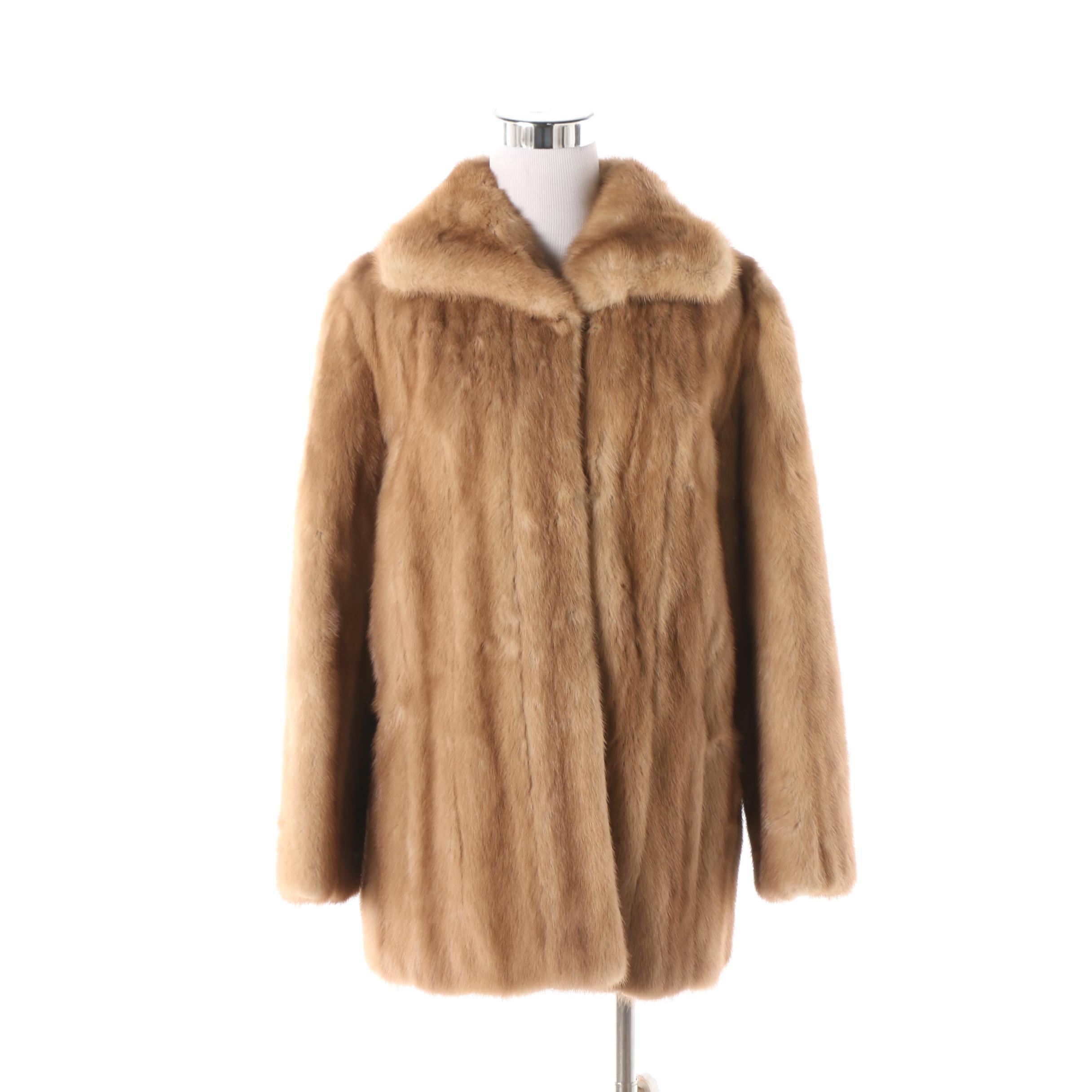 Women's Vintage Saks-Jandel Pastel Mink Fur Coat