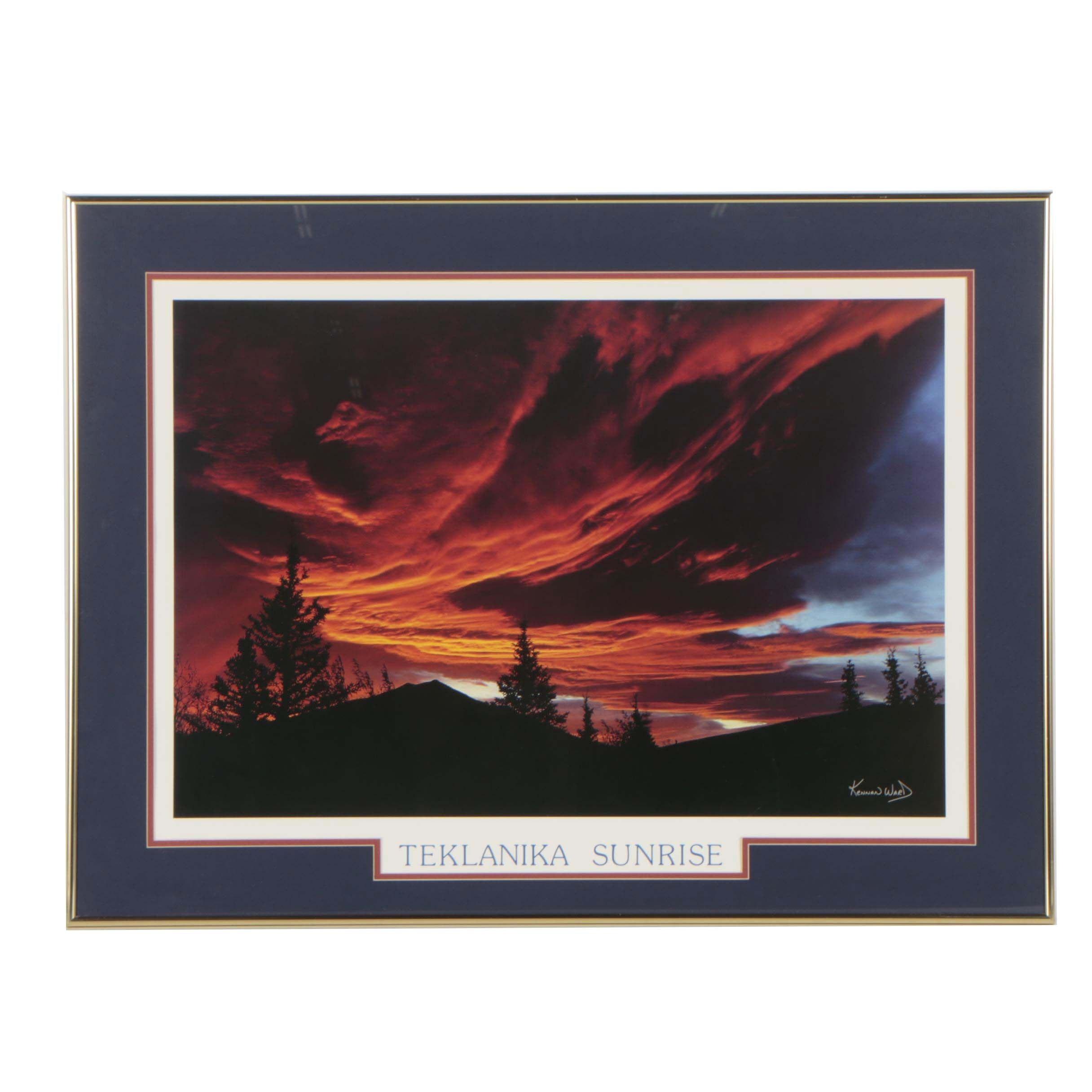 "Offset Lithograph ""Teklanika Sunrise"" after Kennan Ward"