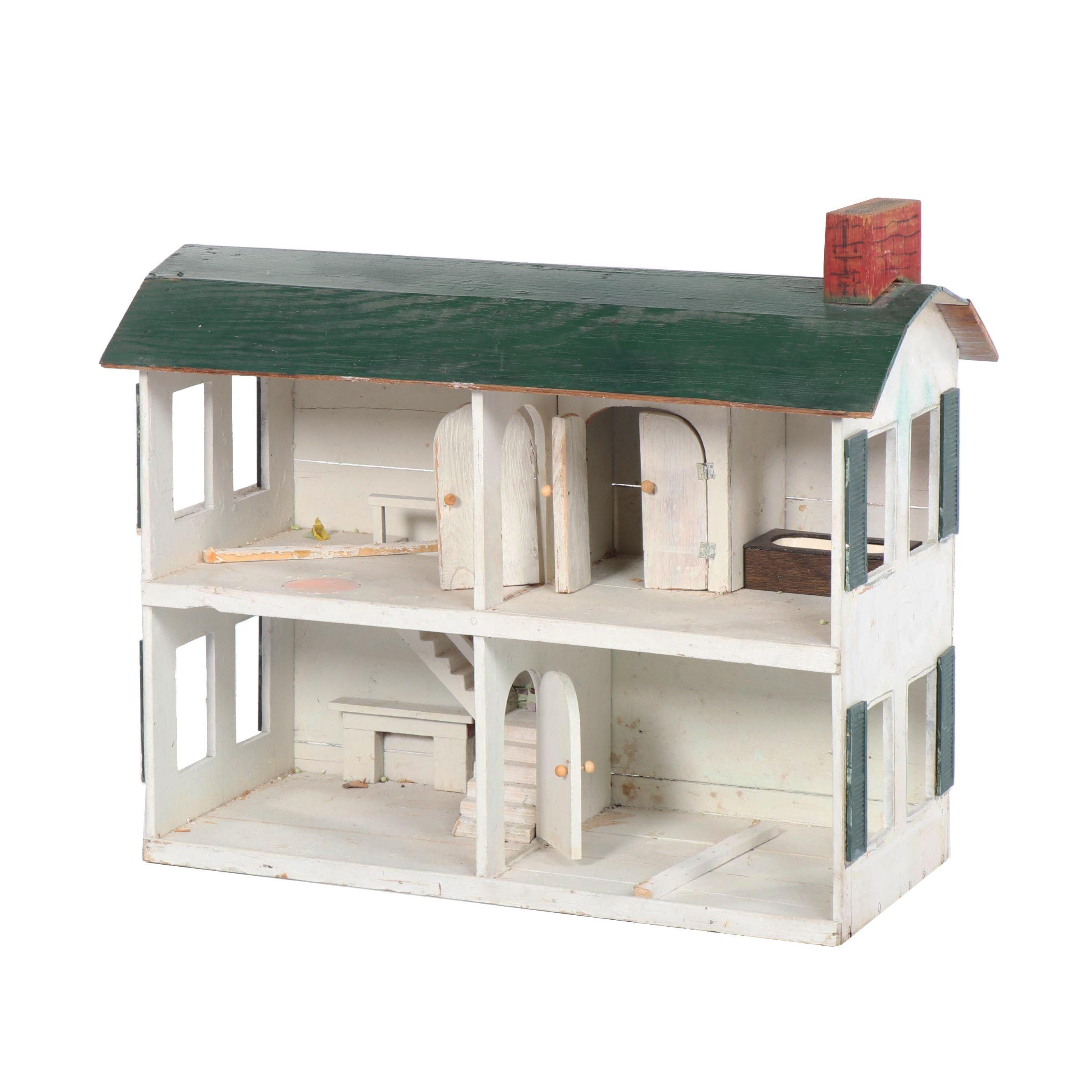 Handmade Wooden Doll House Ebth