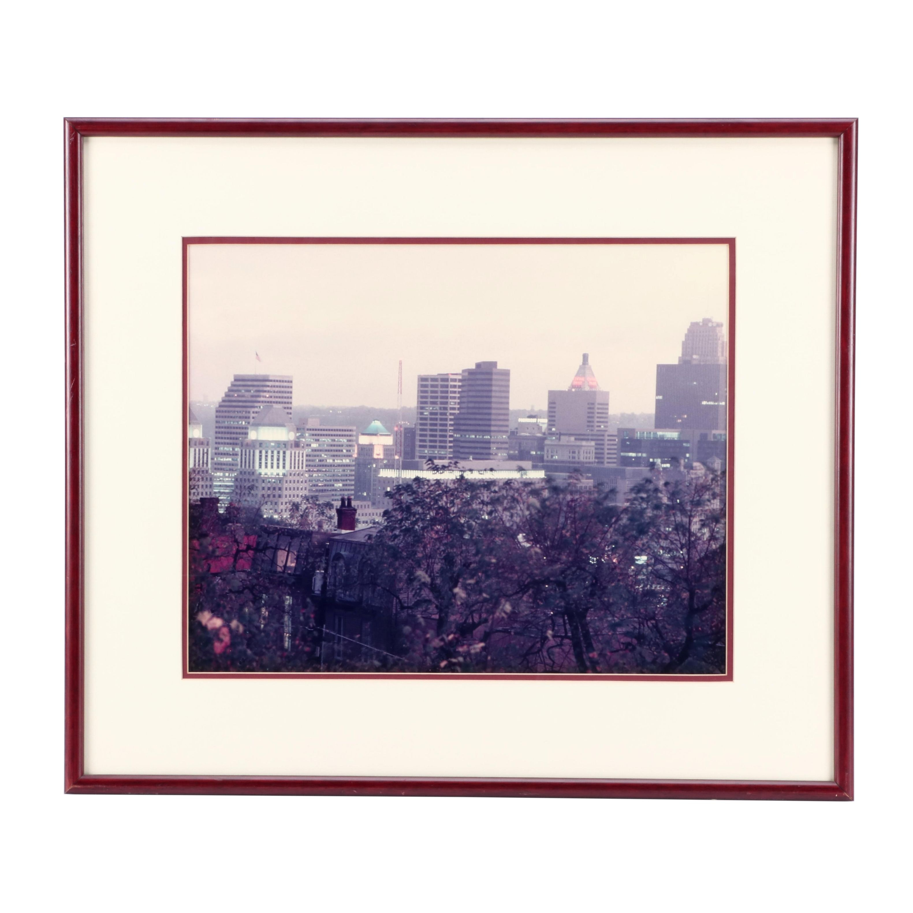 Chromogenic Color Photograph of Western View of Downtown Cincinnati