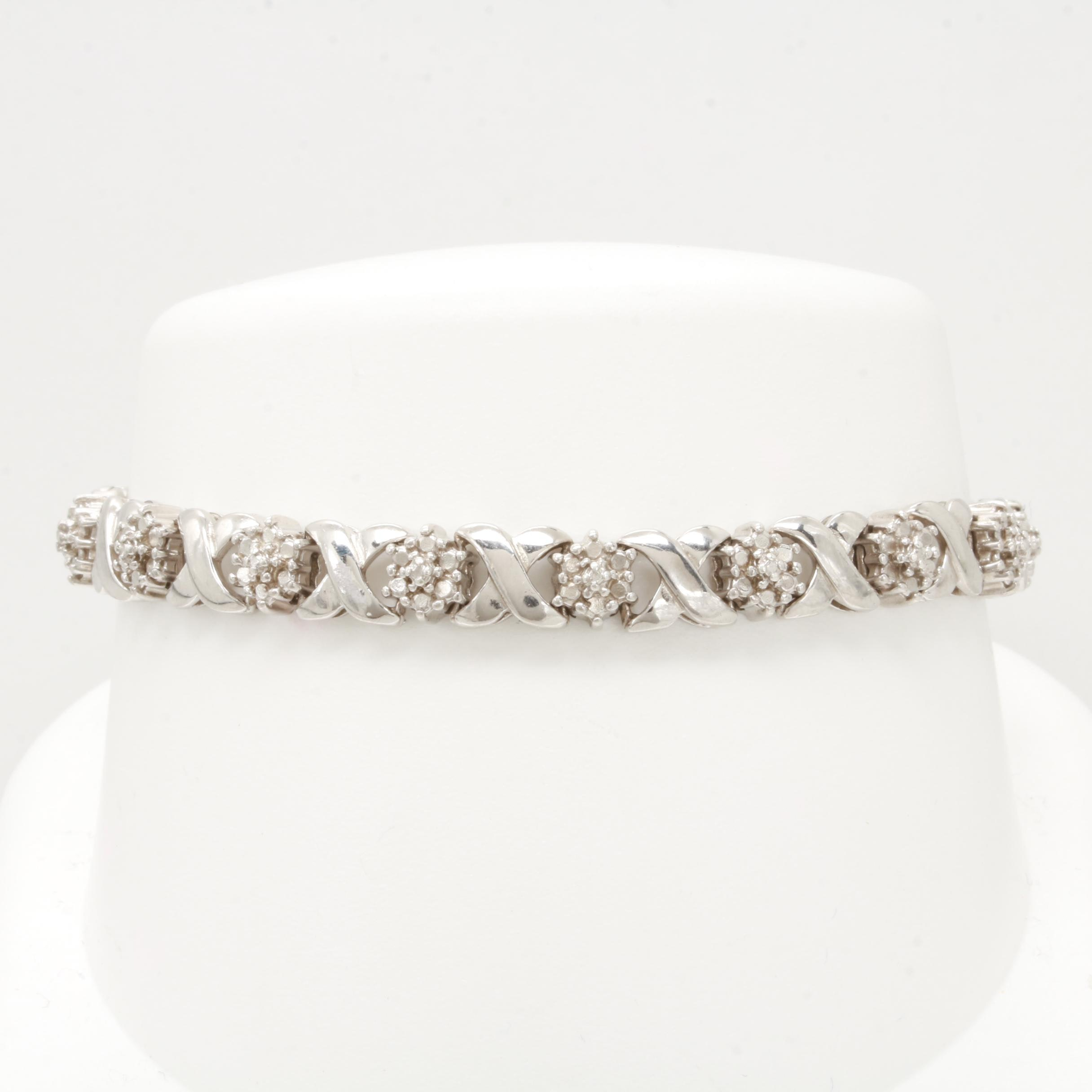 Sterling Silver Diamond Tennis Bracelet