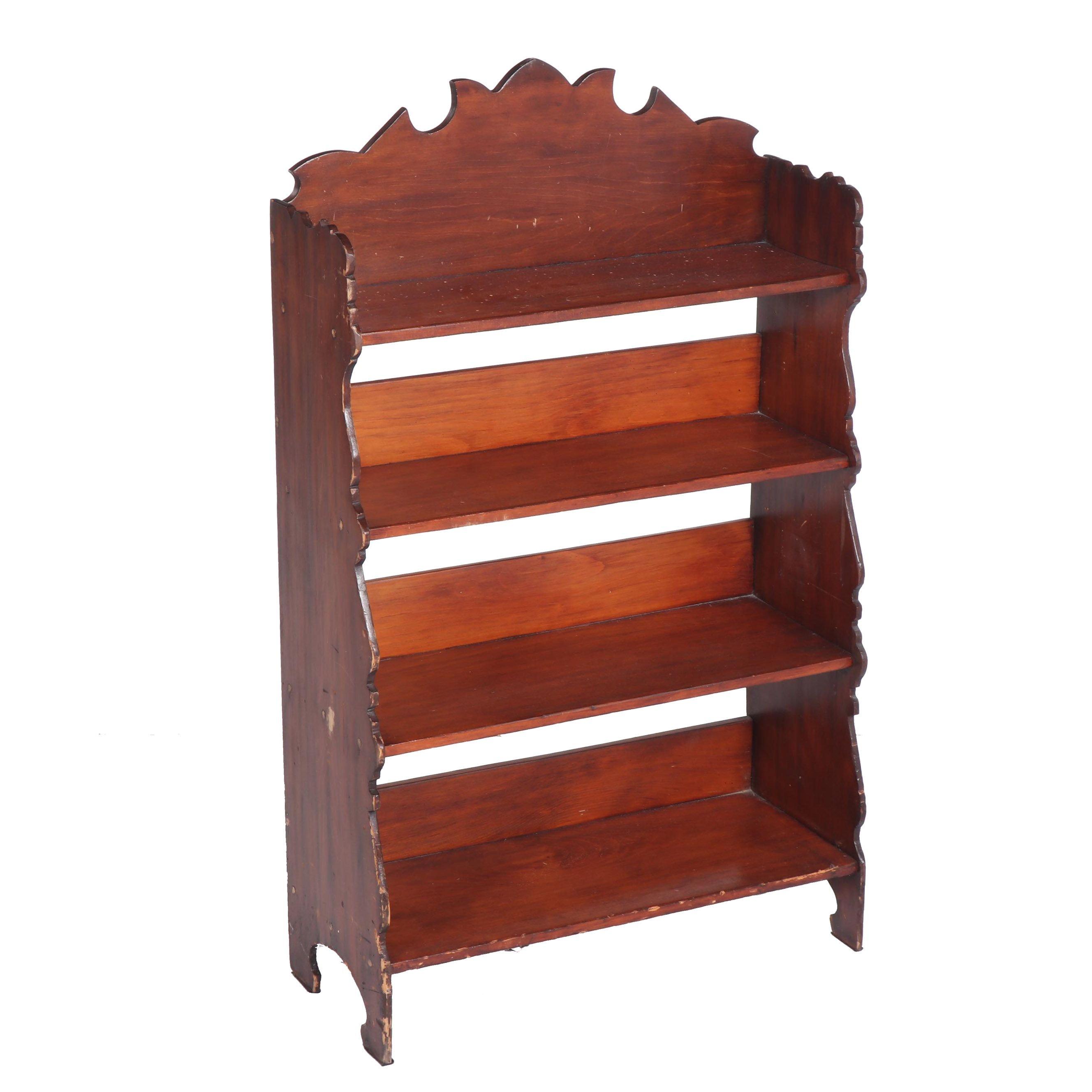 Mahogany Four-Tier Bookcase, Mid-20th Century