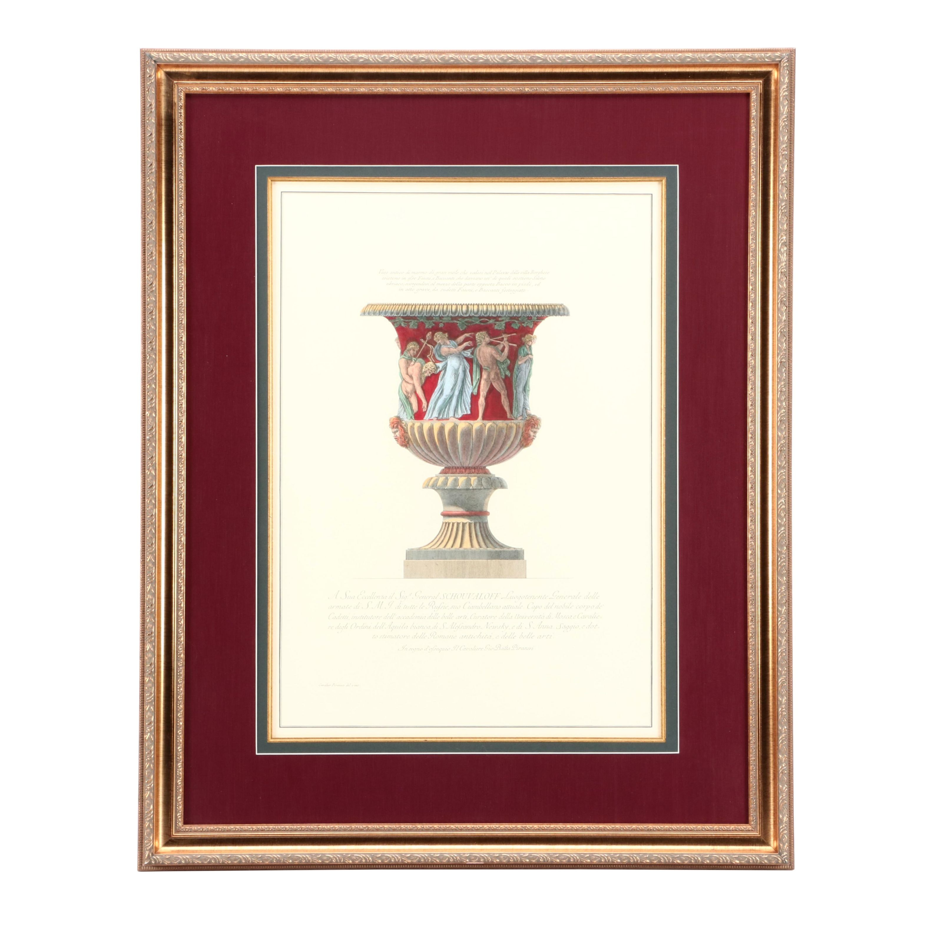Hand-Colored Giclée Reproduction after Giovanni Battista Piranesi Etching