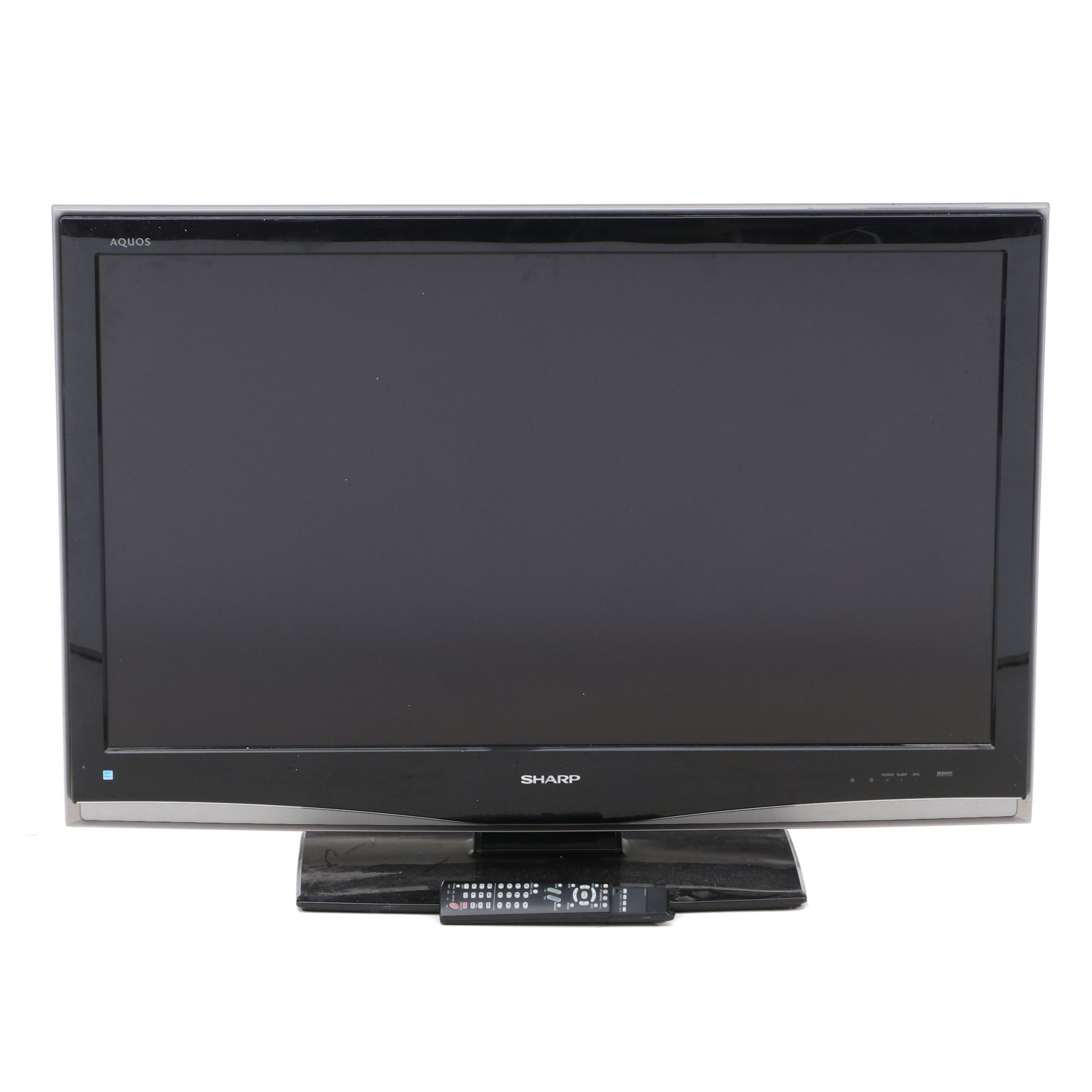 "42"" Sharp ""Aquos"" LCD Flat Screen TV with Stand and Remote"