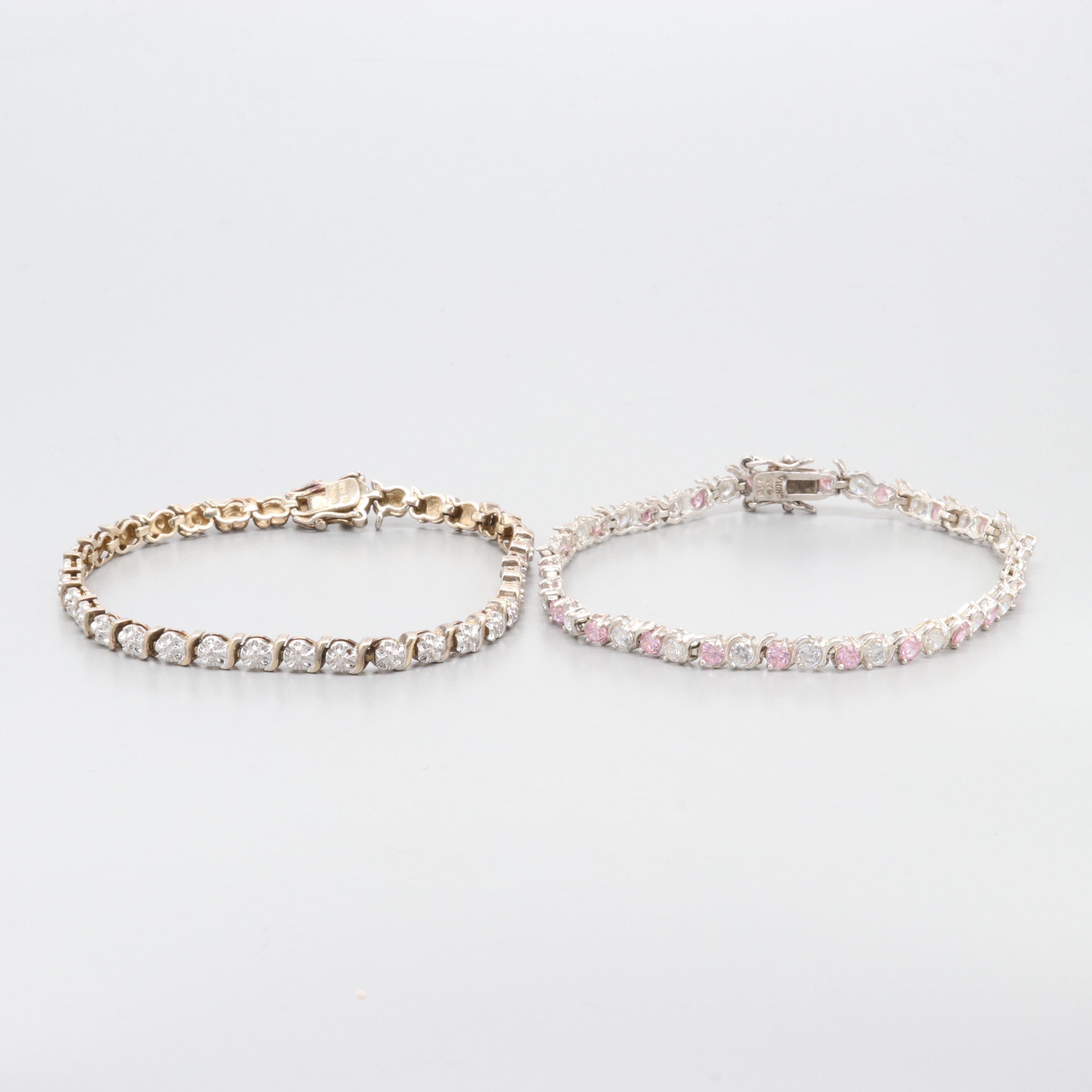 Sterling Silver Cubic Zirconia Tennis Bracelets