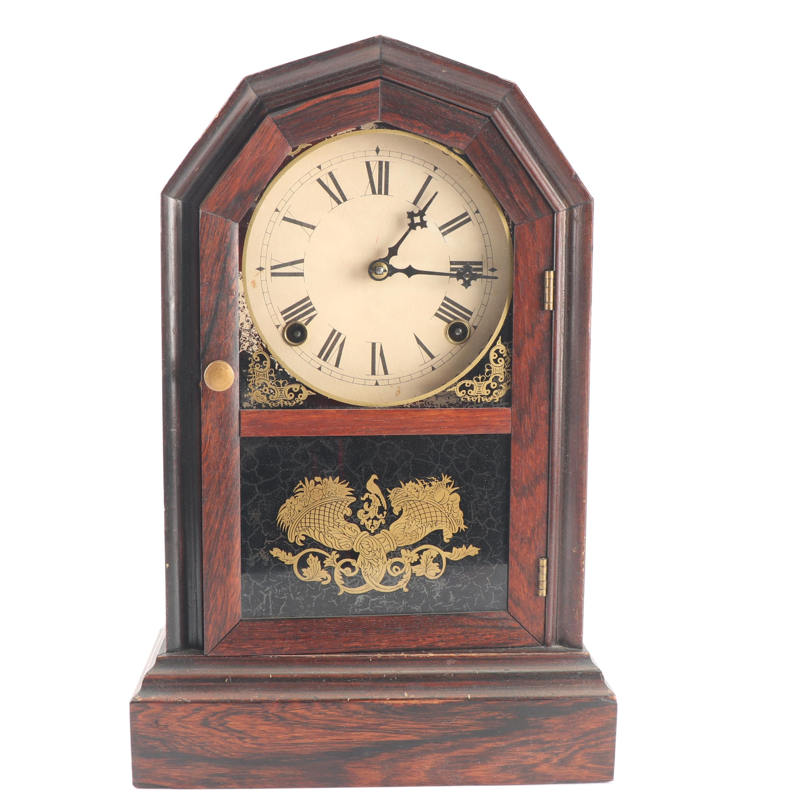 Atkins Rosewood Mantel Clock, 19th Century