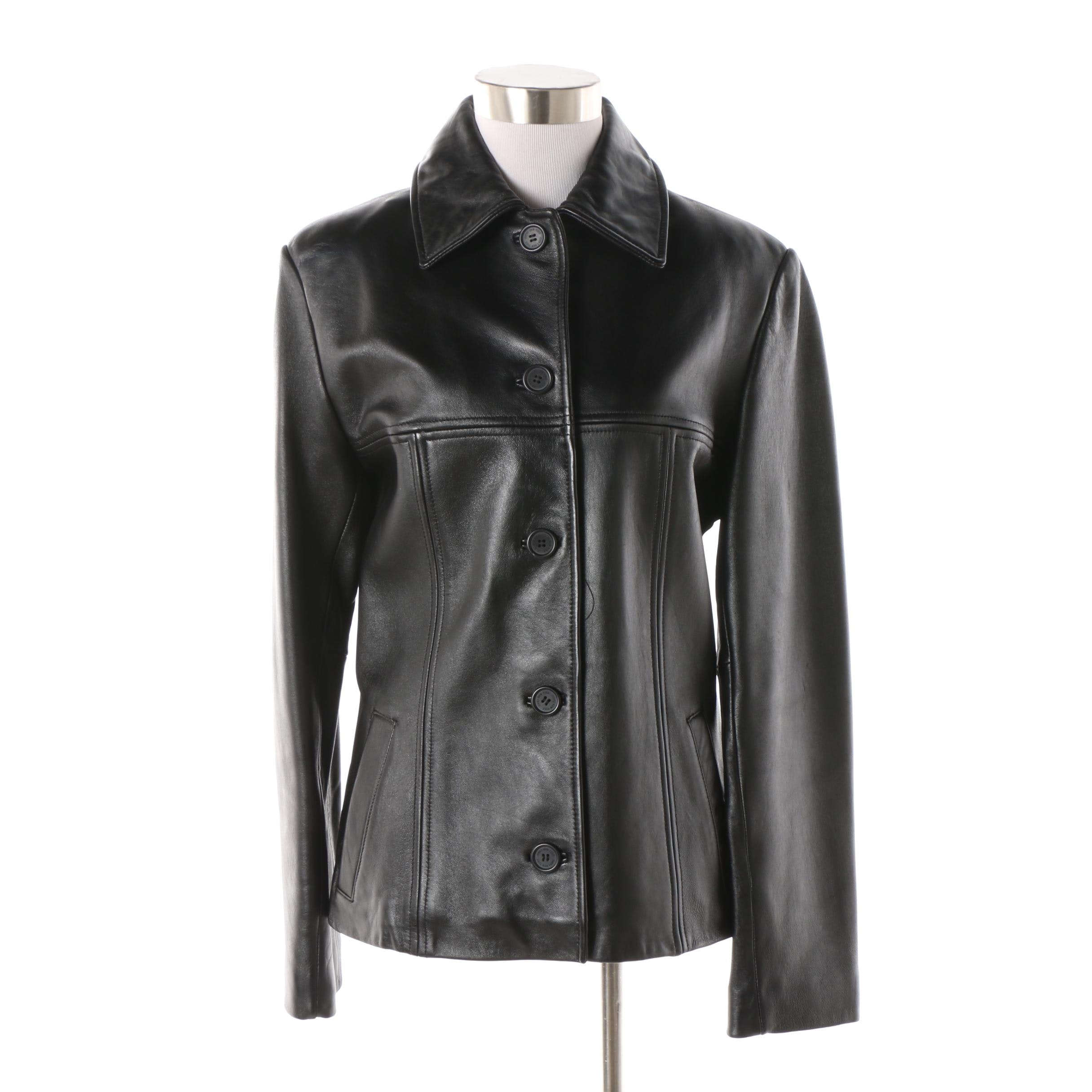 Women's Jones New York Black Leather Jacket