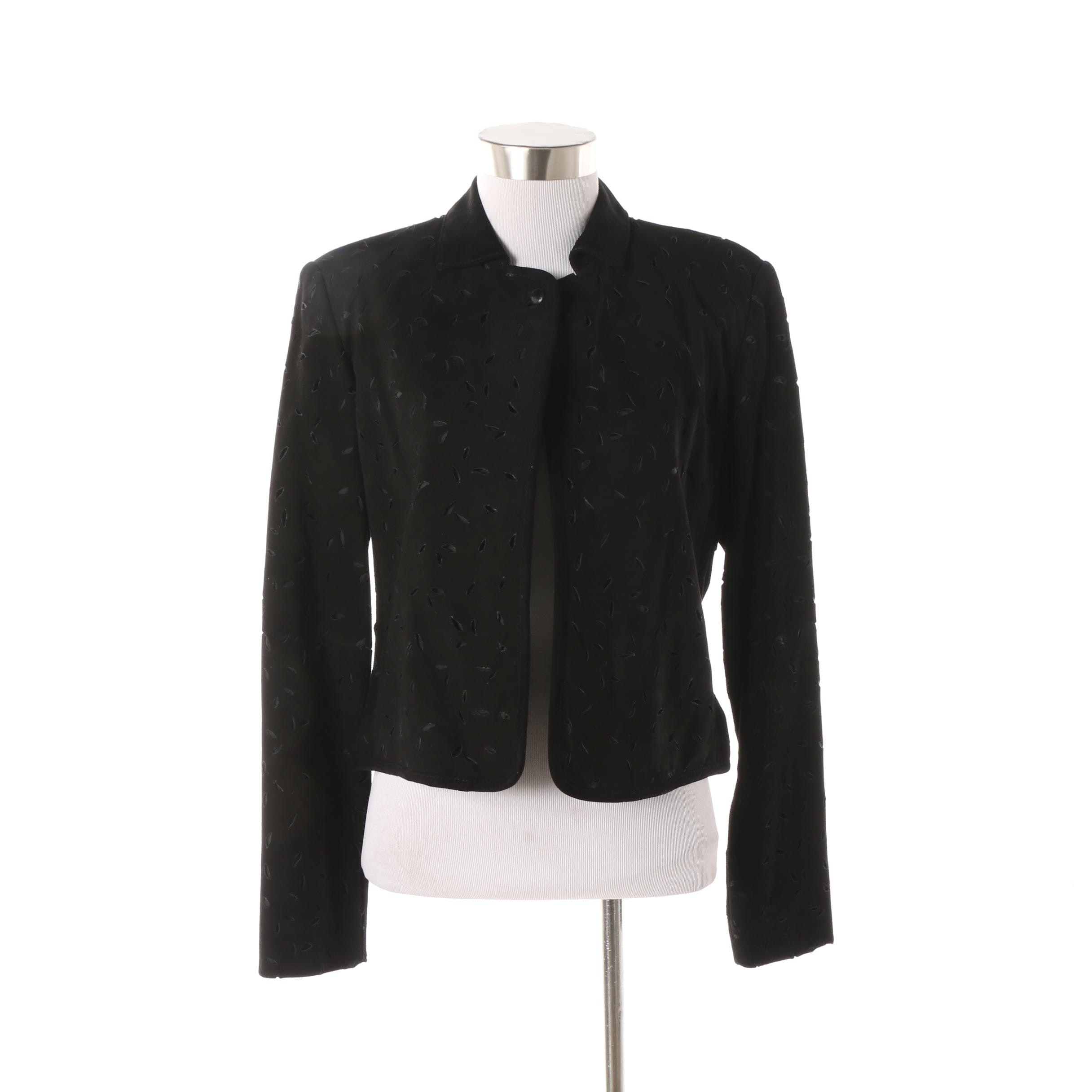 Women's Worth Black Suede Laser Cut Jacket