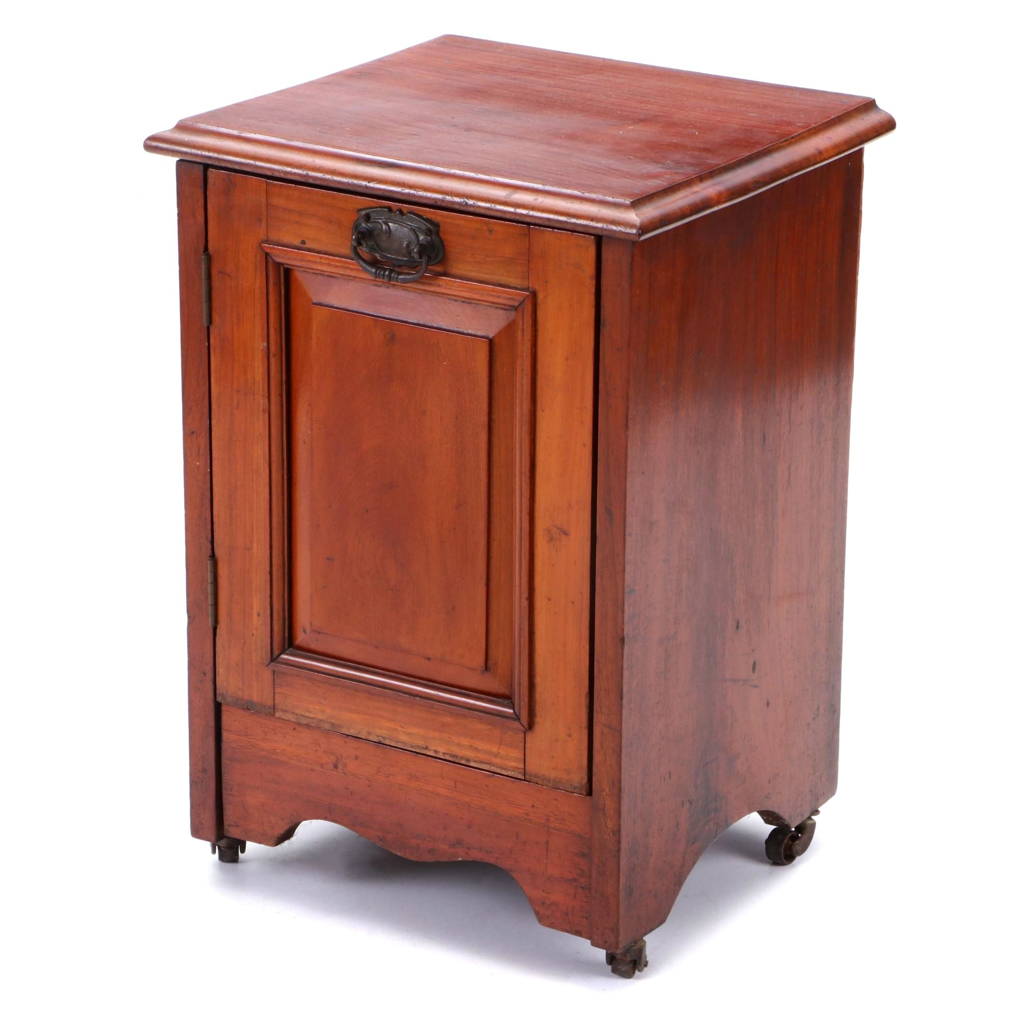 Early 20th Century Mahogany Rolling Coal Bin