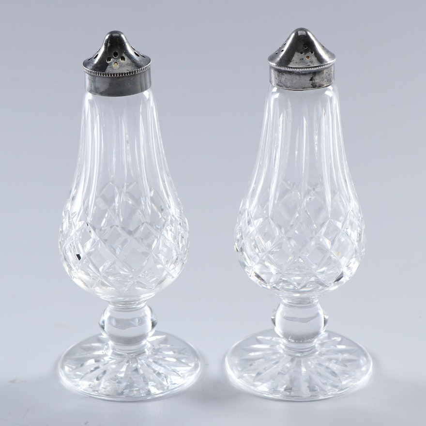Waterford Crystal Lismore Salt And Pepper Shakers Ebth