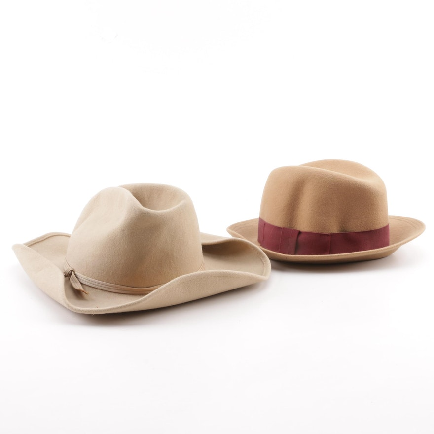 b54460daa4566 Men s Vintage Planar and Borelli Collection Wool Felt Hats   EBTH