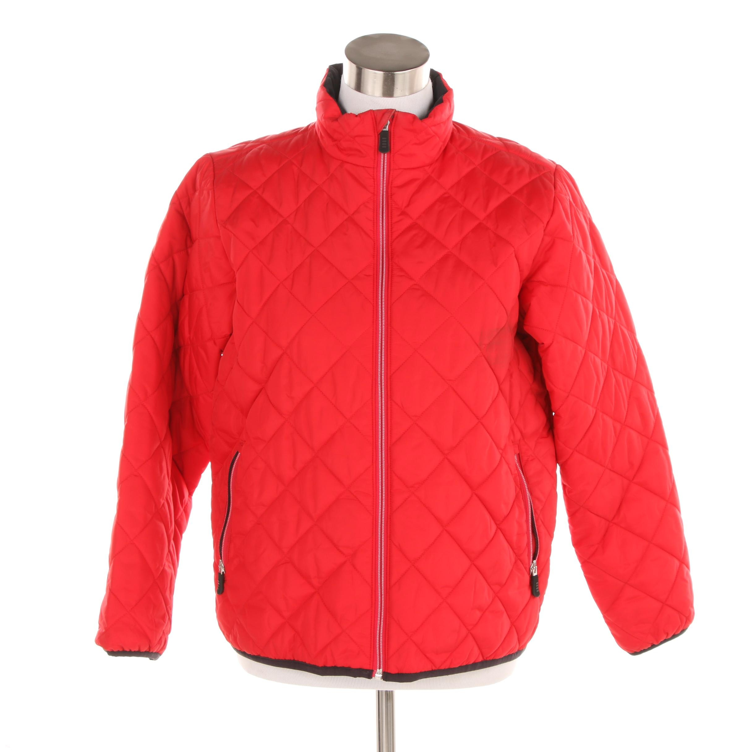 Women's Lands' End Red Quilted Jacket