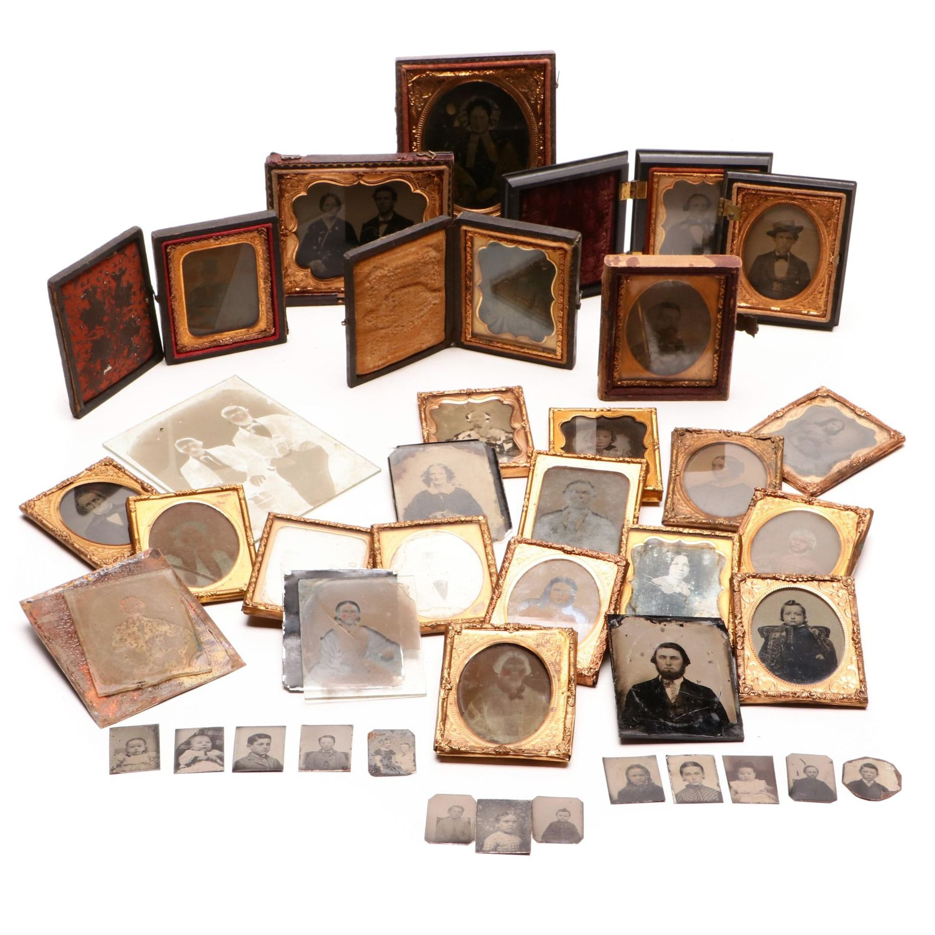 Antique Ambrotype and Tintype Photographs