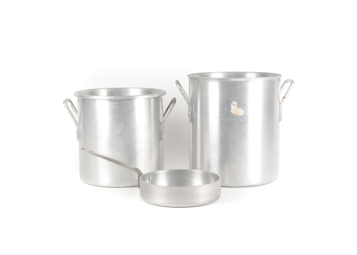 Vintage Aluminum Stockpots and Sauté Pan featuring Wear-Ever