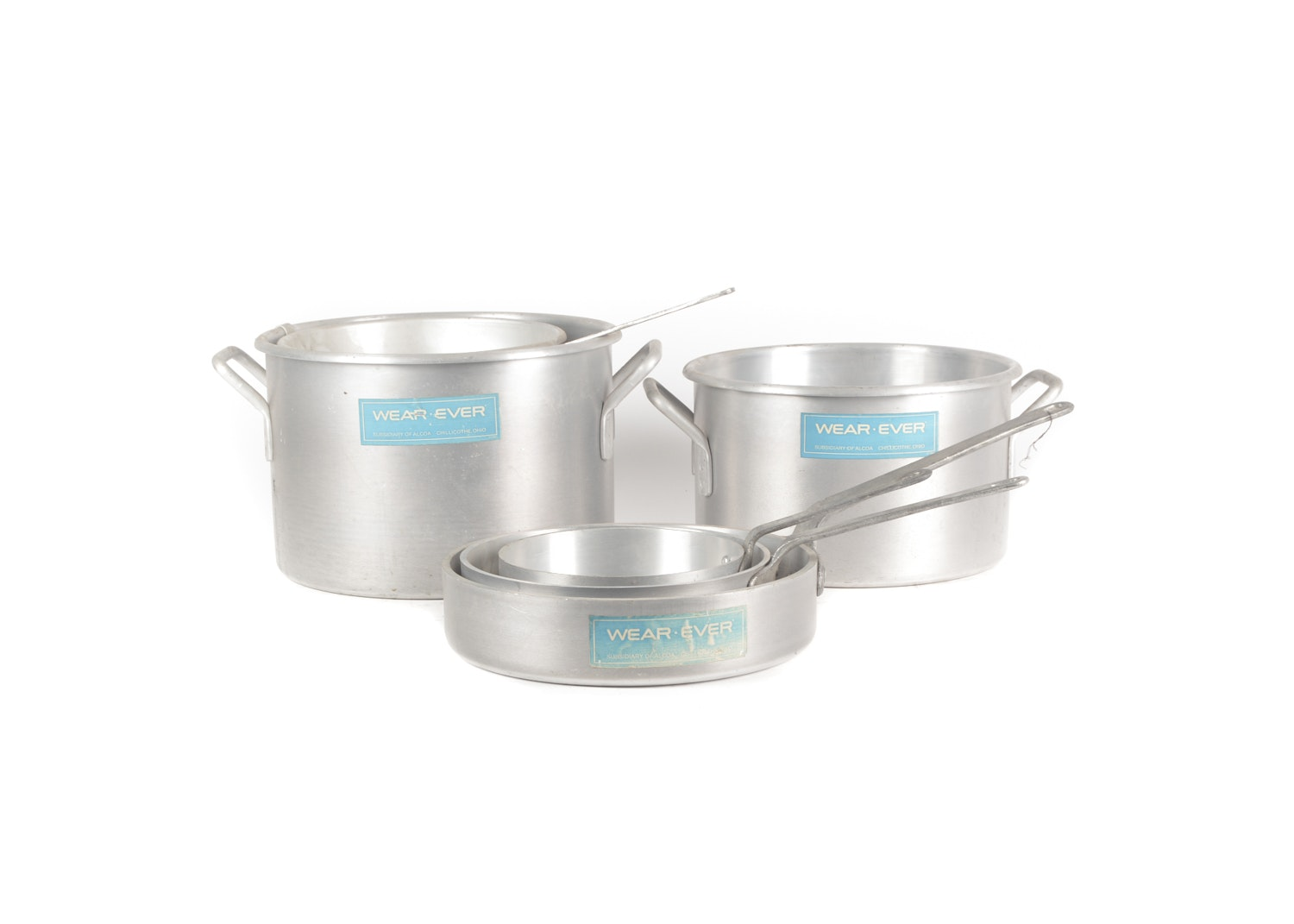 Vintage Wear-Ever Stainless Steel Pots and Pans