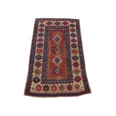 Hand-Knotted Caucasian Baku Wool Rug