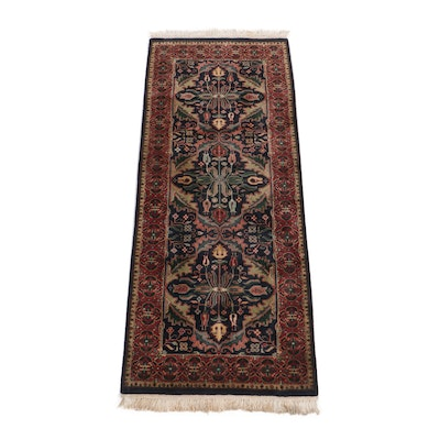 Hand-Knotted Indo-Persian Wool Runner