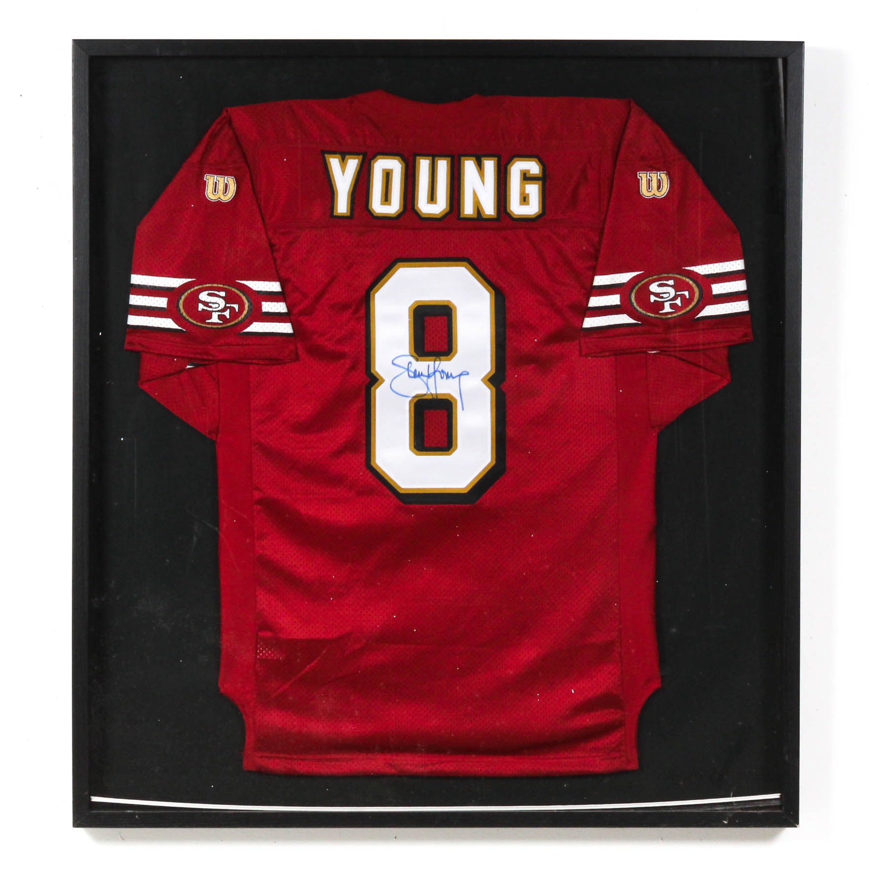 Steve Young Autographed San Francisco 49ers Wilson Football Jersey
