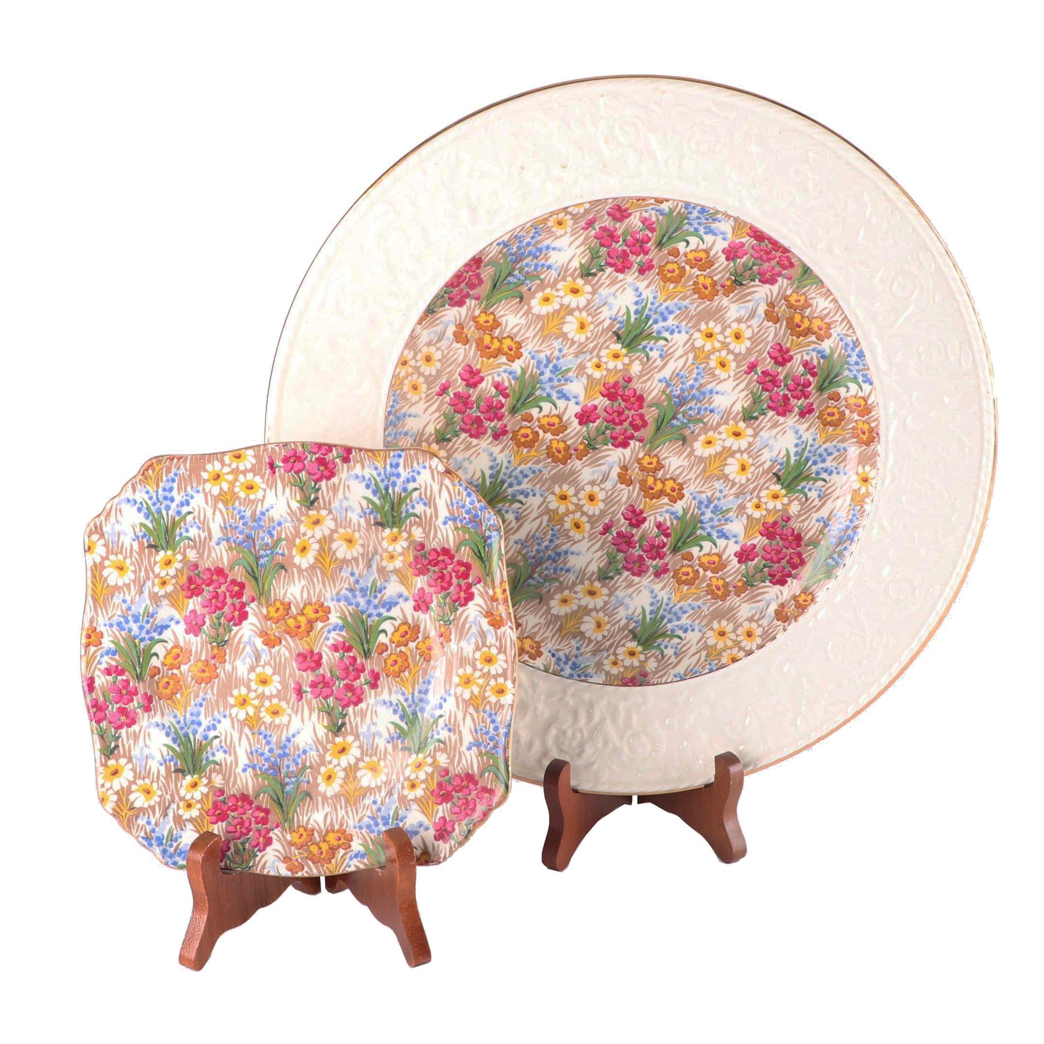 "Royal Winton ""Marguerite"" Dinner and Dessert Plates, Circa 1934-50"