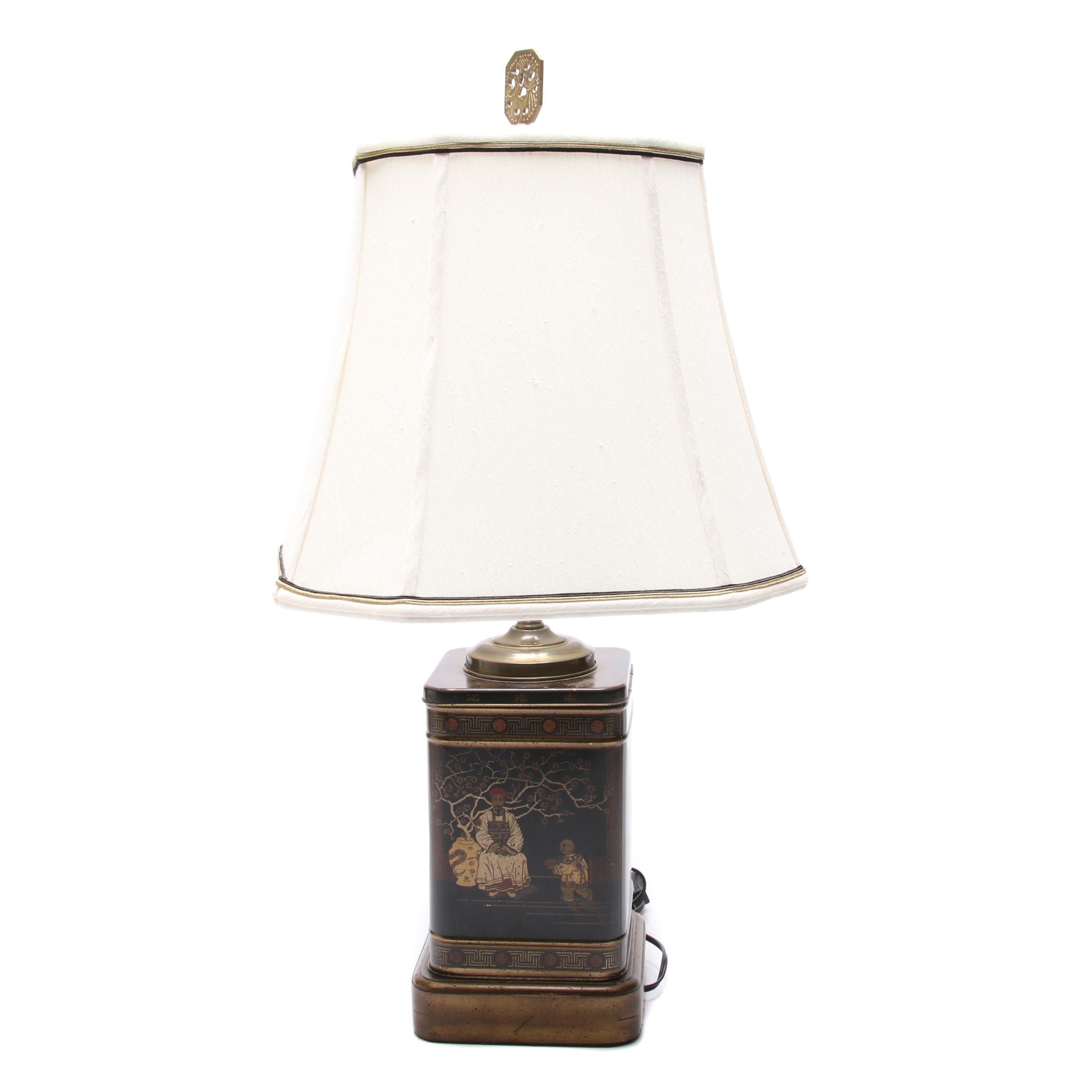 Chinoiserie Tin Box Table Lamp