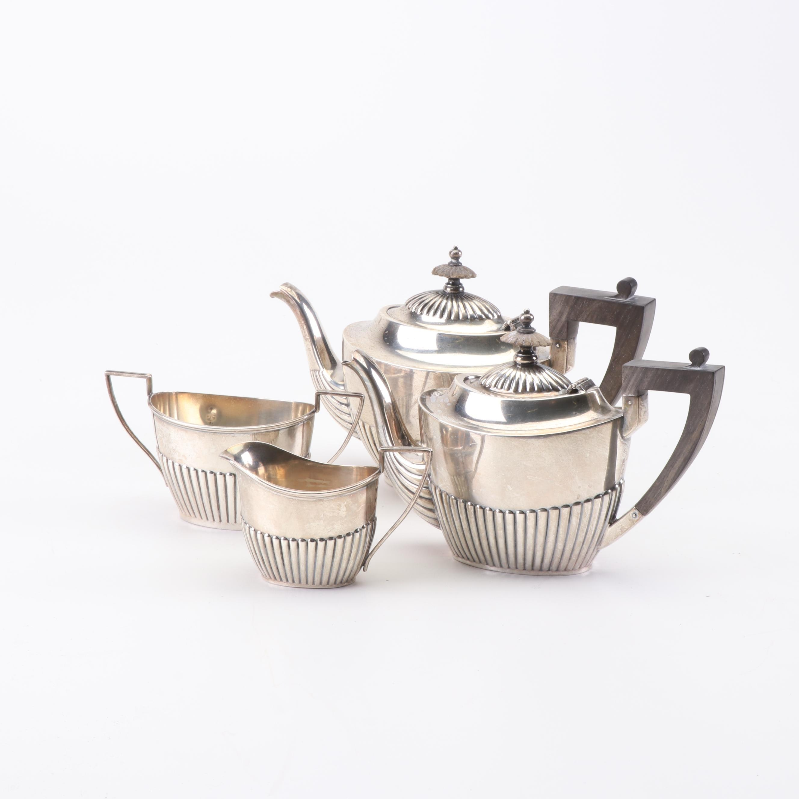 Black, Starr & Frost and Gorham Sterling Queen Anne Style Tea and Coffee Service