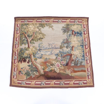 Belgian Landscape Tapestry, 20th Century