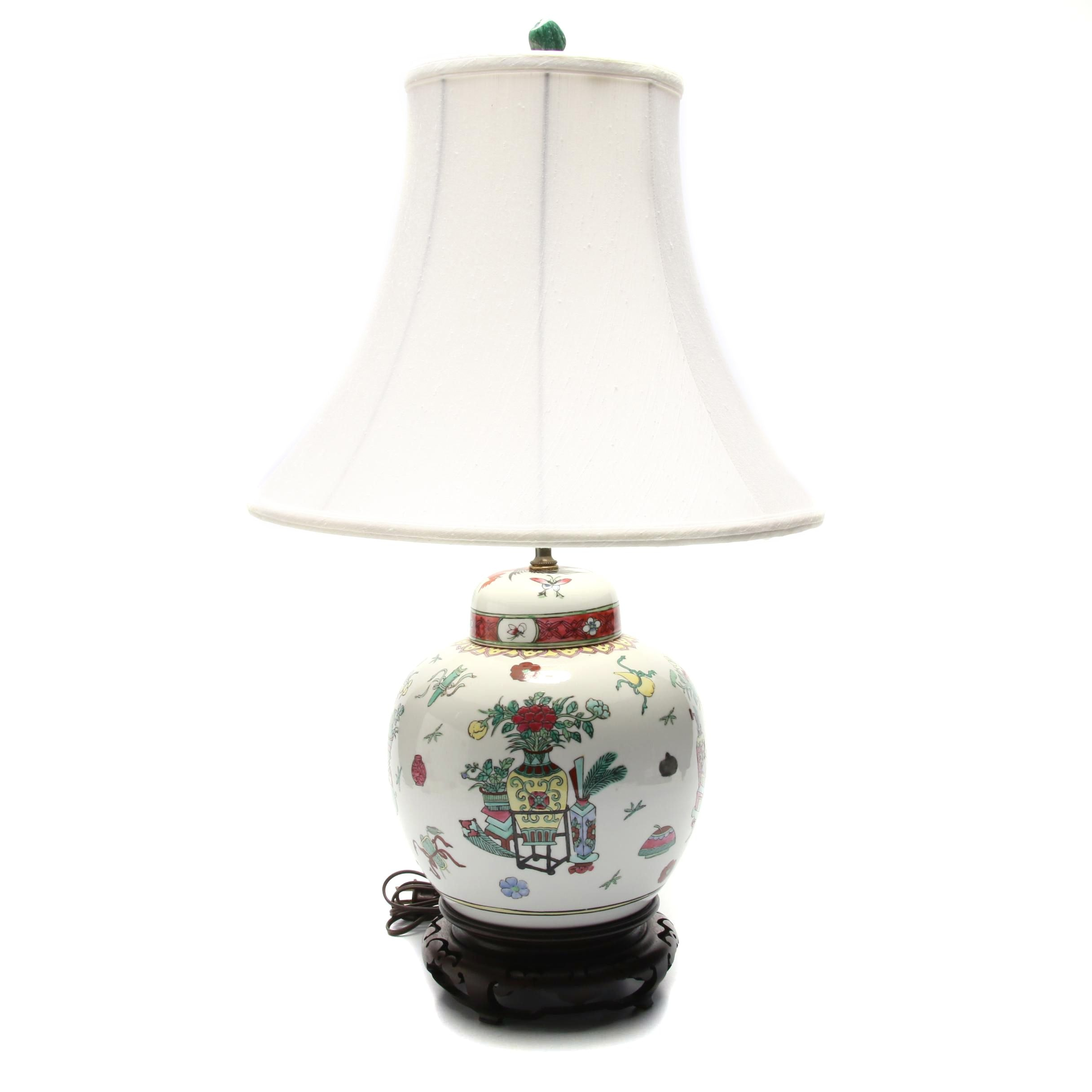 Chinese Ginger Jar Table Lamp