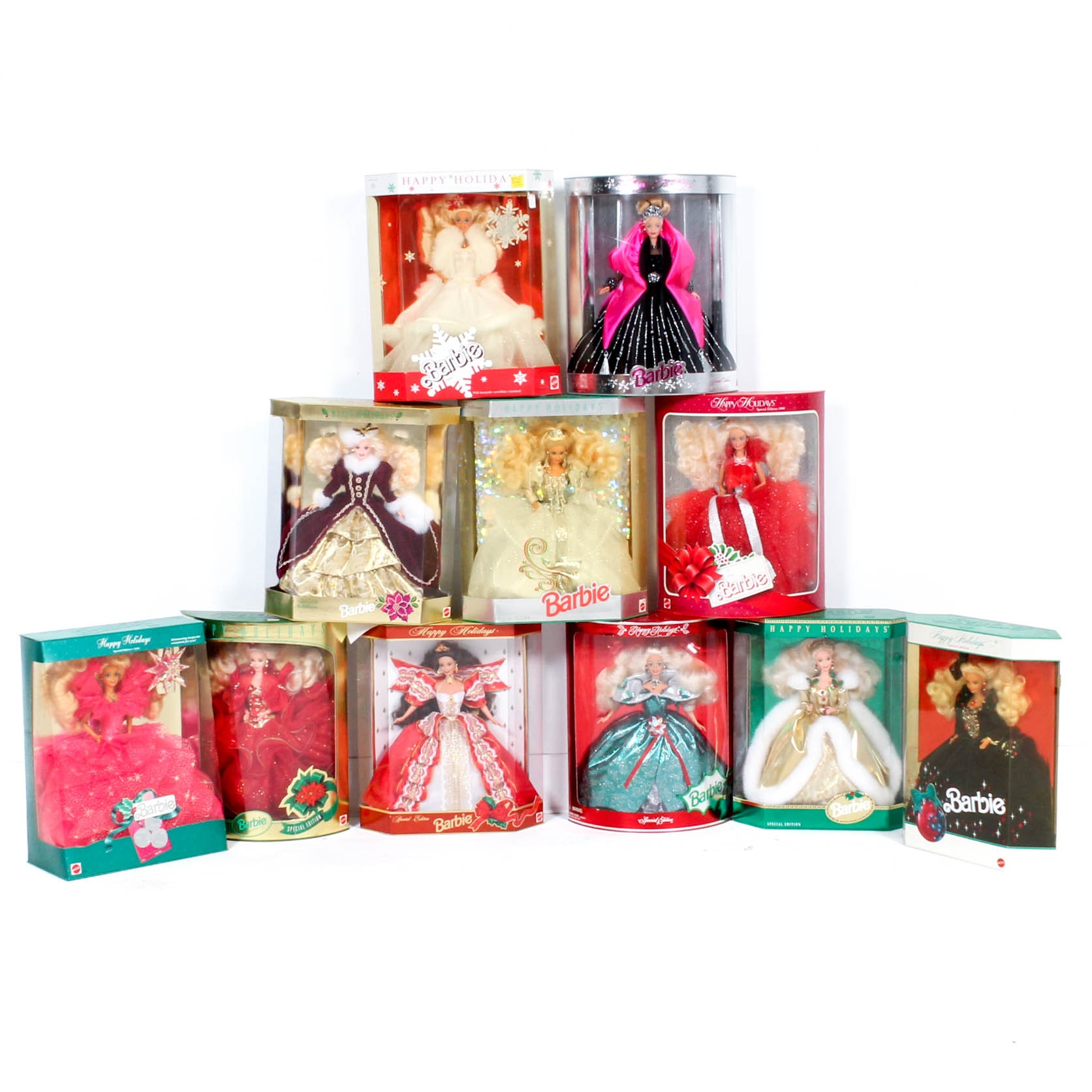 Holiday Mattel Barbie Dolls from the 1980s and 1990s