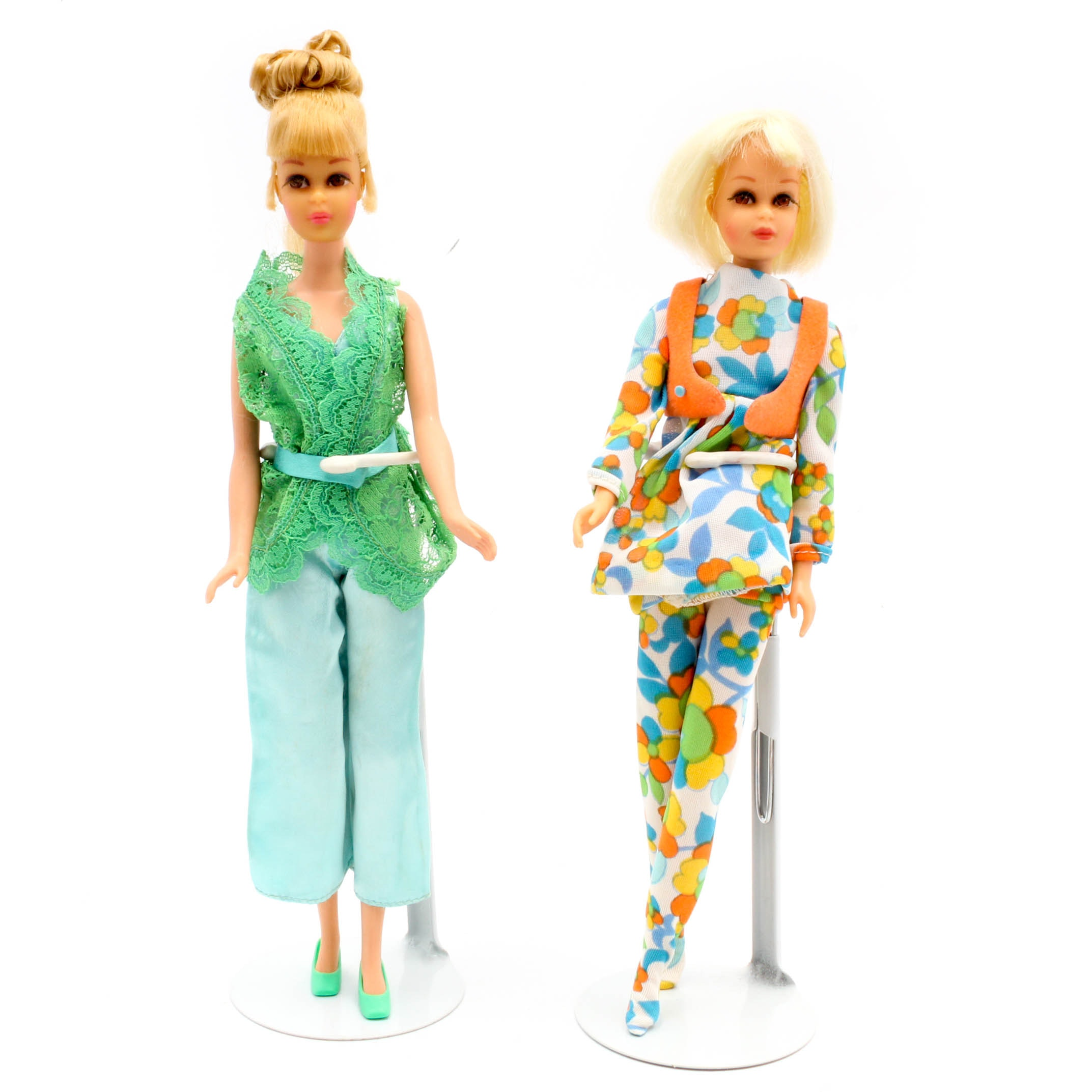 "1970s Francie ""Hair Happenin's"" and ""Growin' Pretty Hair"" Barbie Dolls"