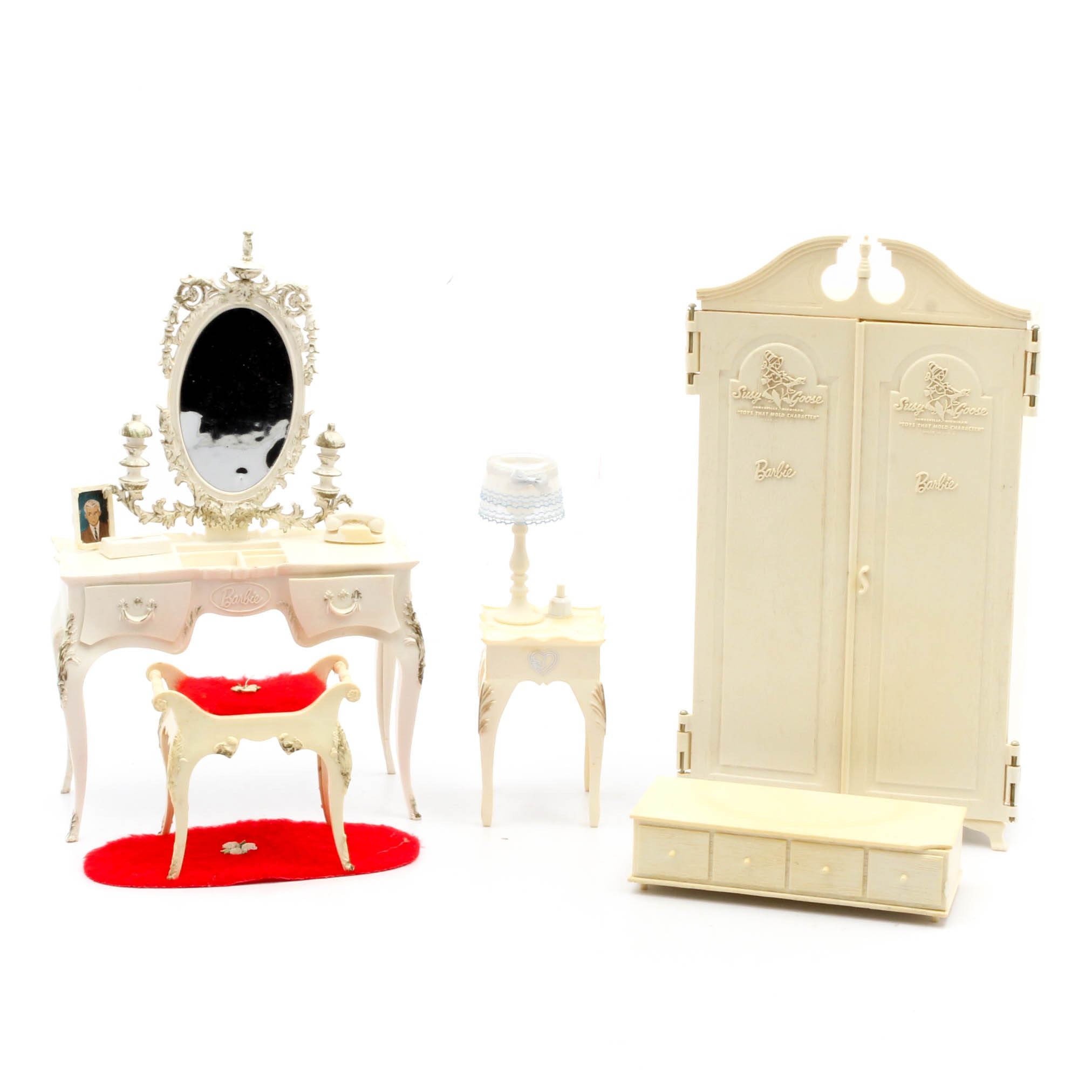 Barbie Doll Furniture by Susy Goose With Accessories, 1960s