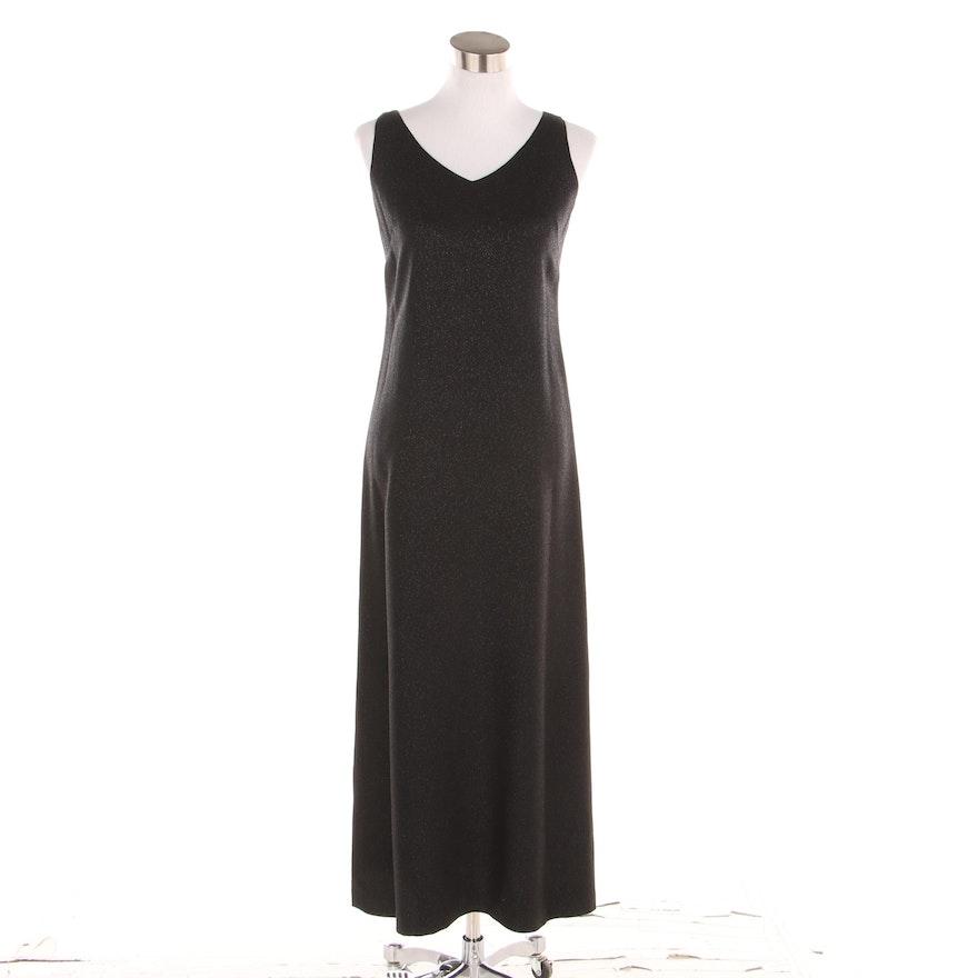 Worth Petite Black Sparkle Sleeveless Maxi Dress Ebth