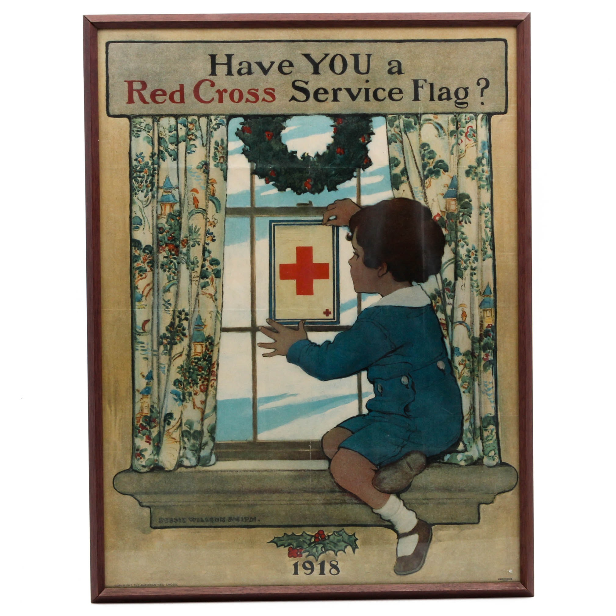 WWI Red Cross Antique Poster After Jessie Willcox Smith
