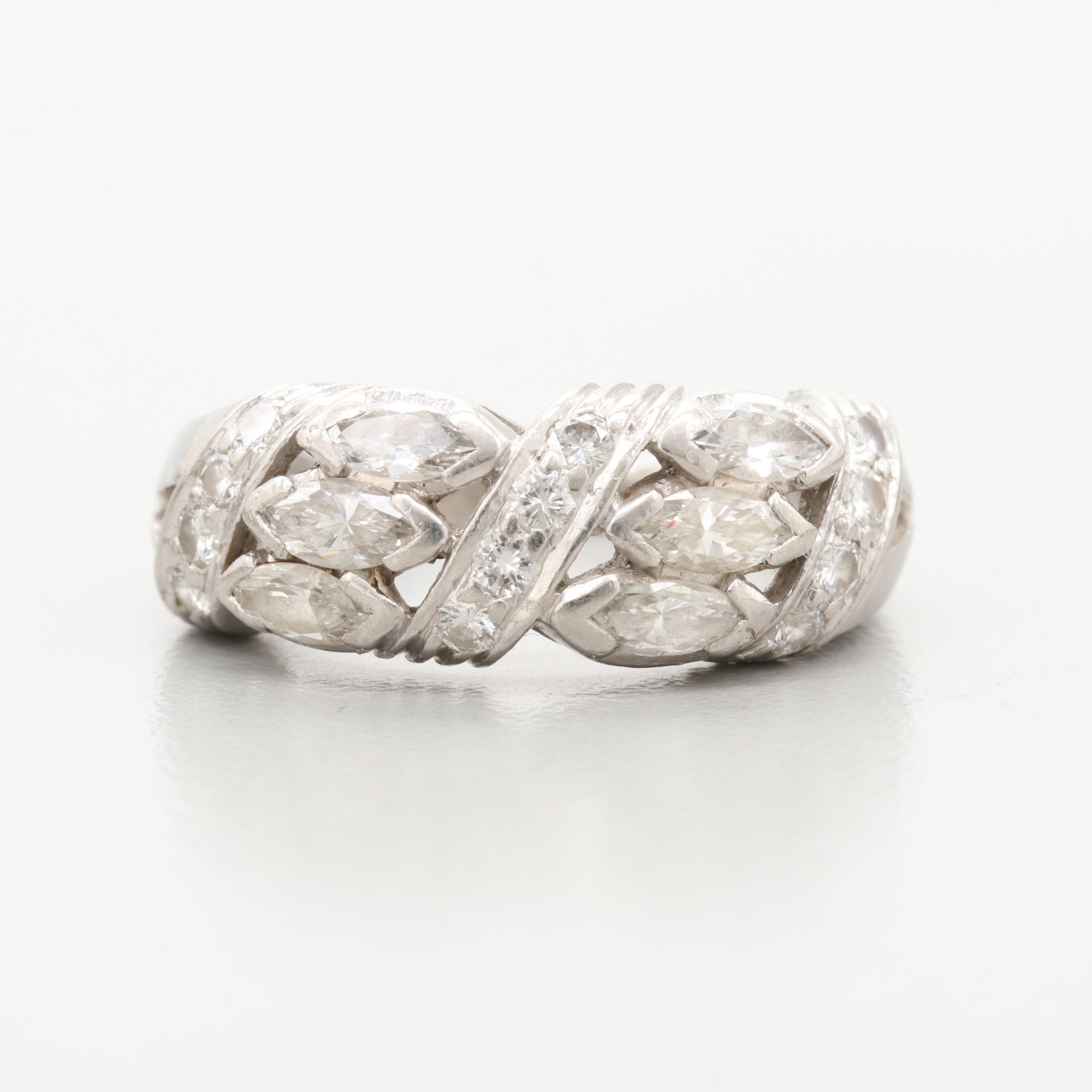 Platinum 1.26 CTW Diamond Ring