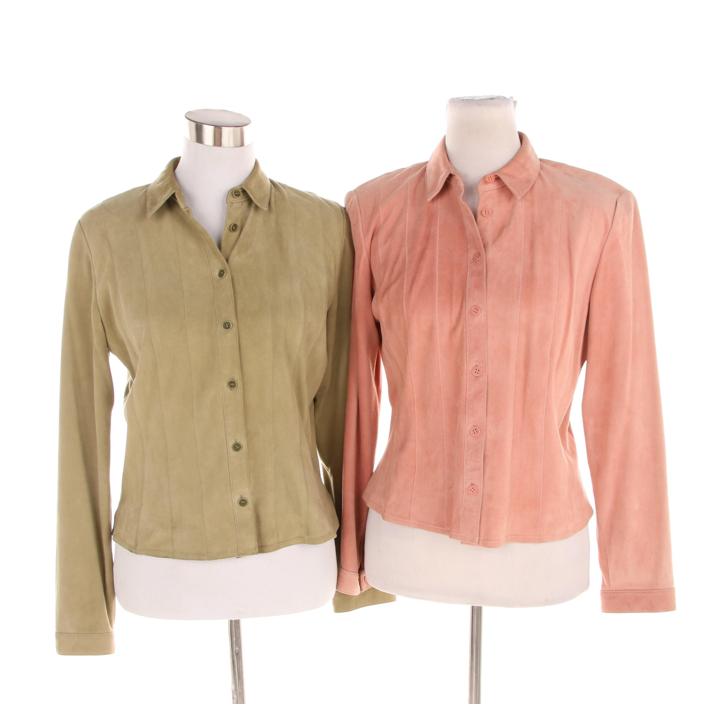 Women's Worth Suede Button-Front Shirts