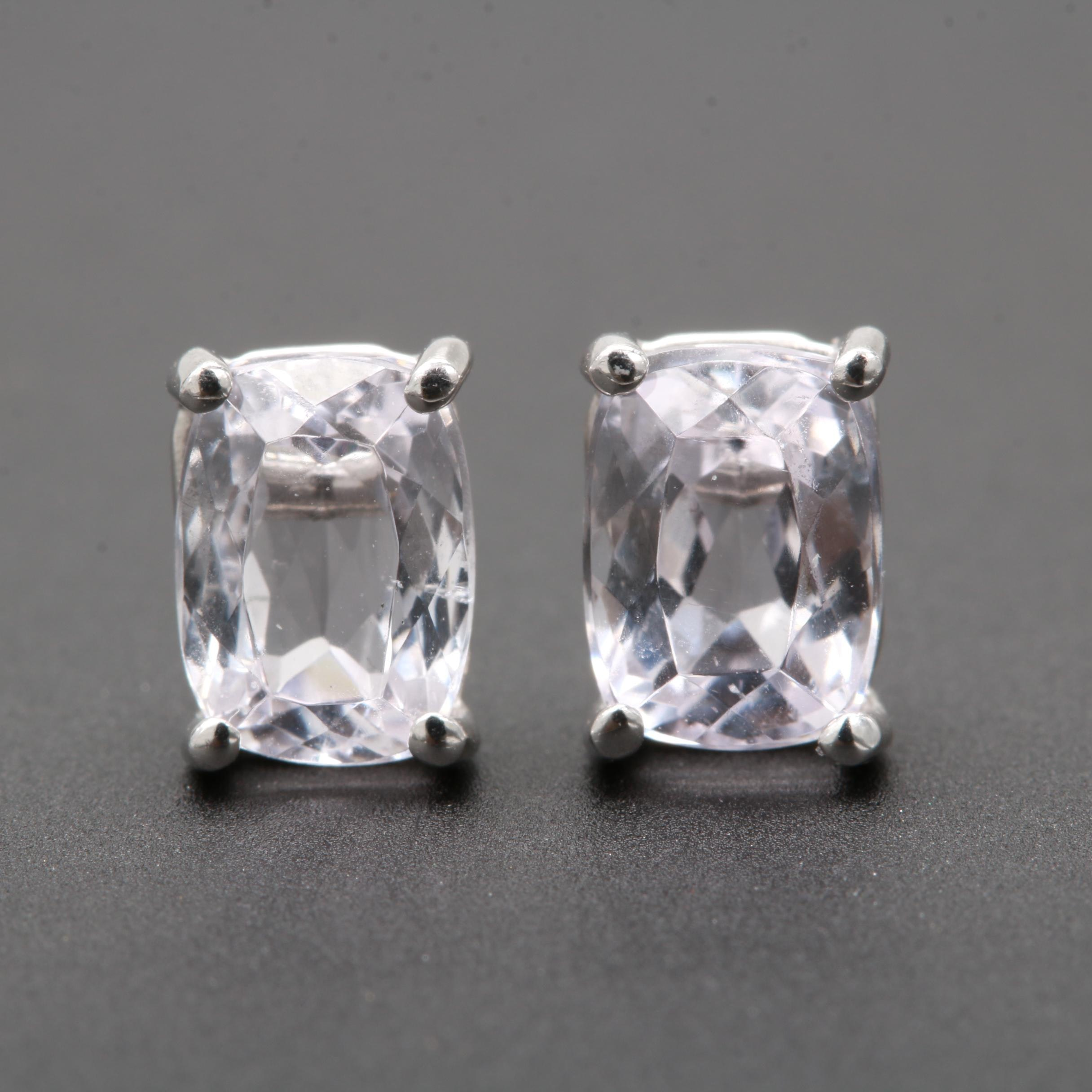 LeVian 14K White Gold Morganite Stud Earrings