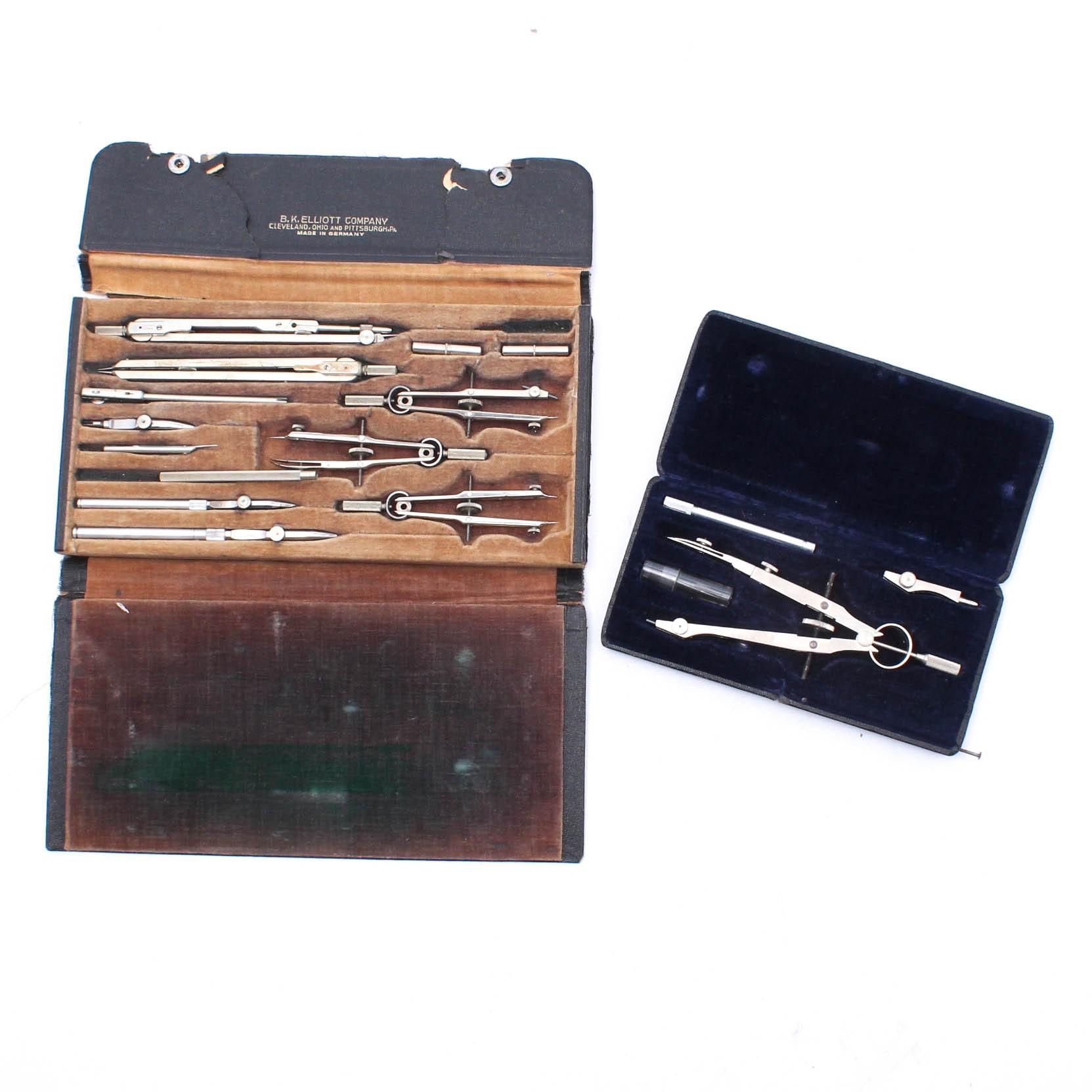 German B.K. Elliot Drafting Kit with Compass Set