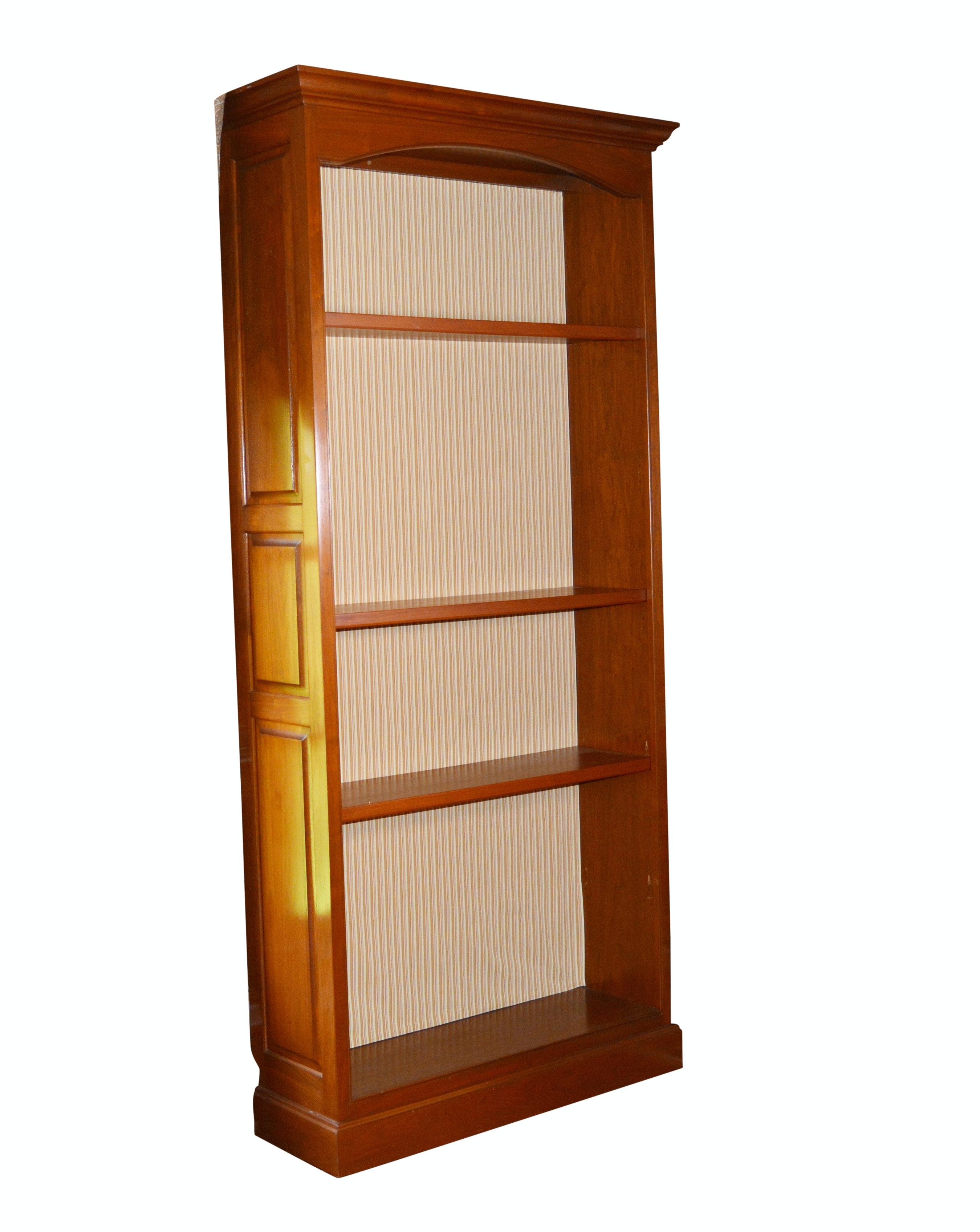 Contemporary Wood Three-Shelf Bookcase
