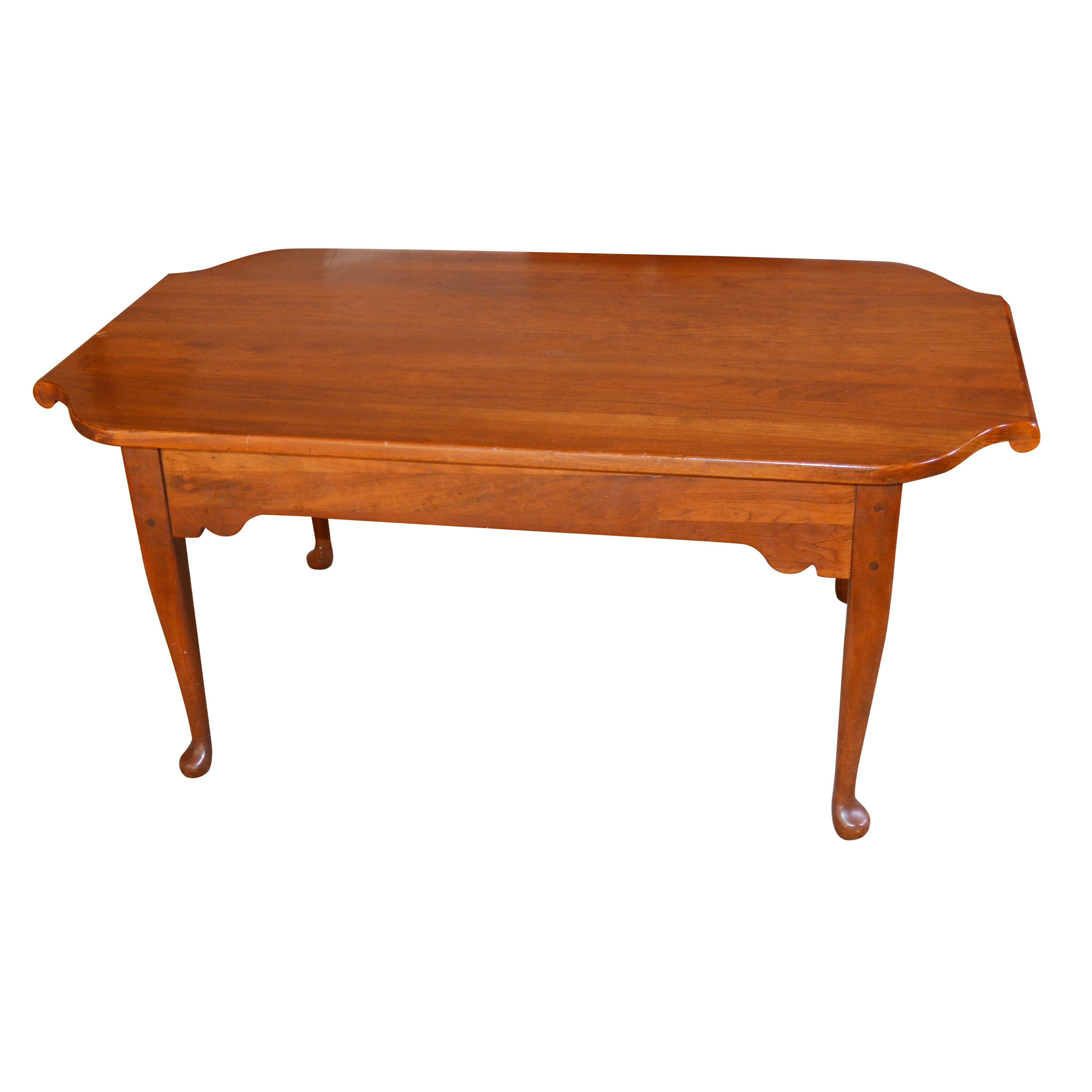 Colonial Revival Style Cherrywood Coffee Table by Bob Timberlake, 20th Century