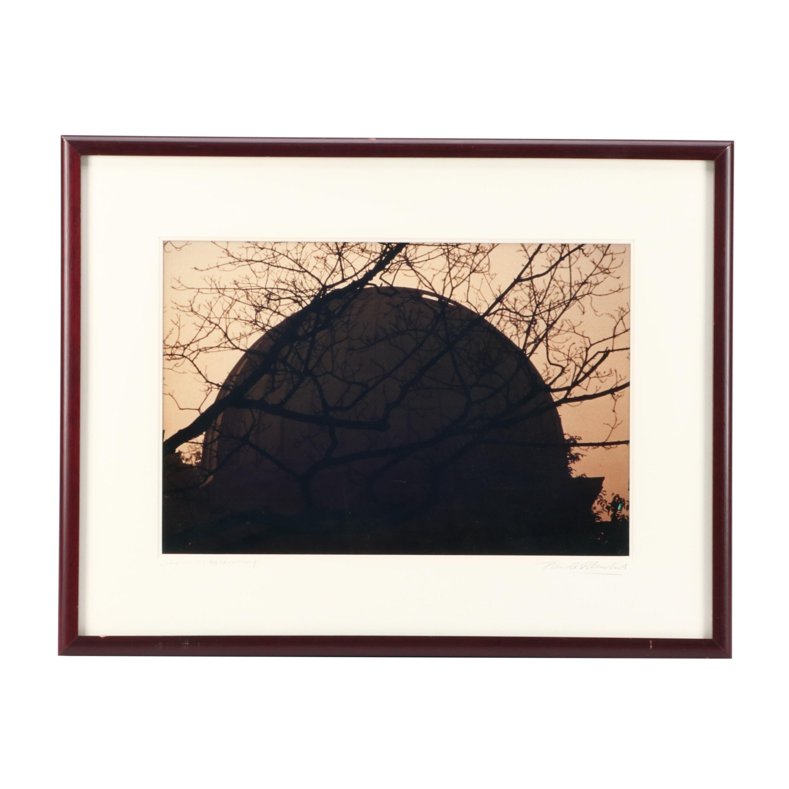 """Robert Flischel Chromogenic Color Photograph """"Cincinnati Observatory"""""""