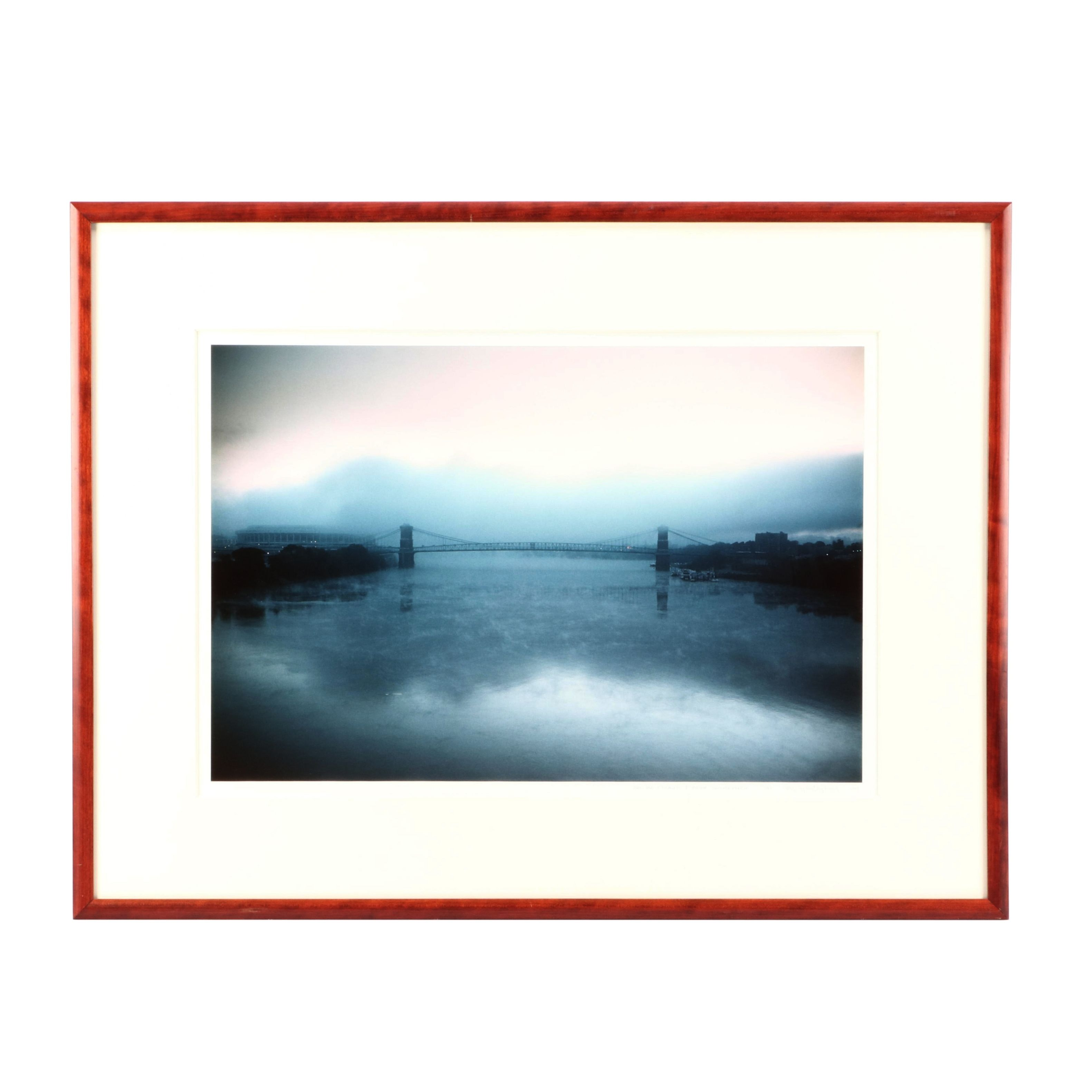 """Gregory Thorp Color Photograph of Bridge """"From the Strauss & Troy Comission"""""""
