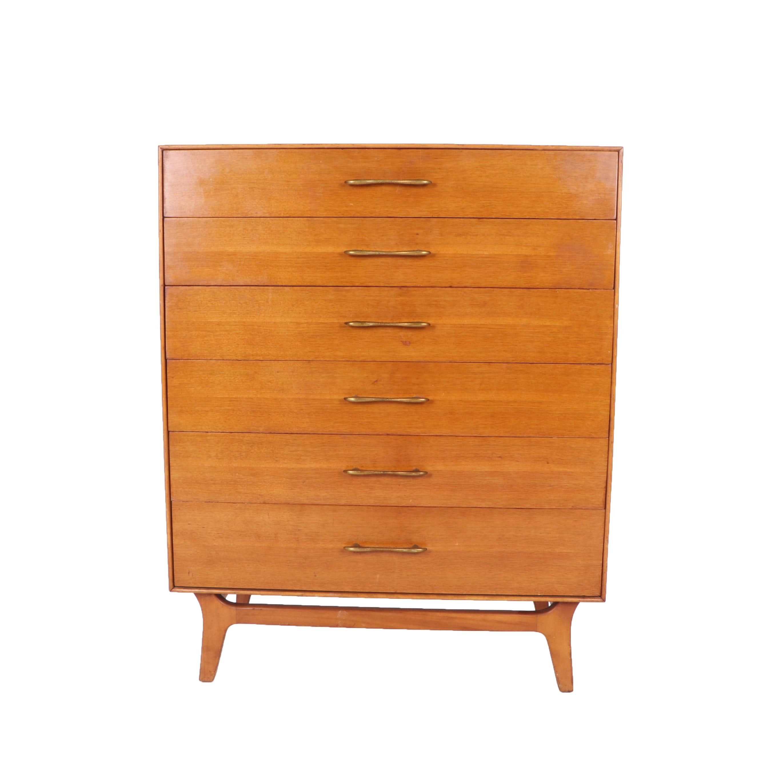 Mid Century Modern Teak Chest of Drawers by RWay, Mid-20th Century