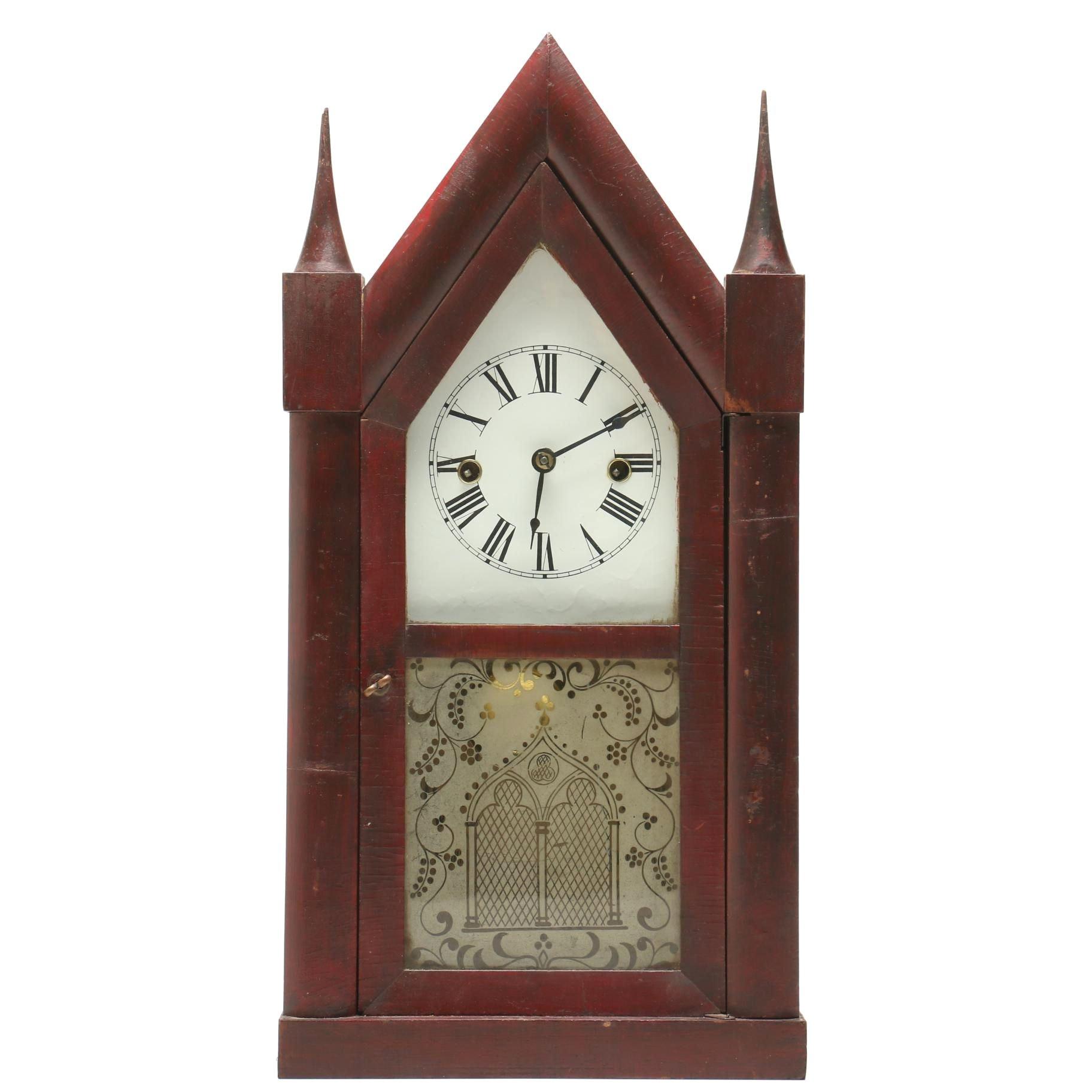 Chauncey Jerome Steeple Mantel Clock, Mid 19th Century