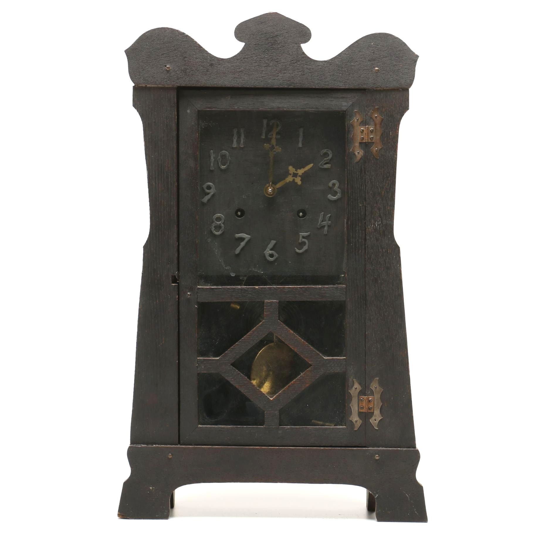 Mission Style Mantel Clock