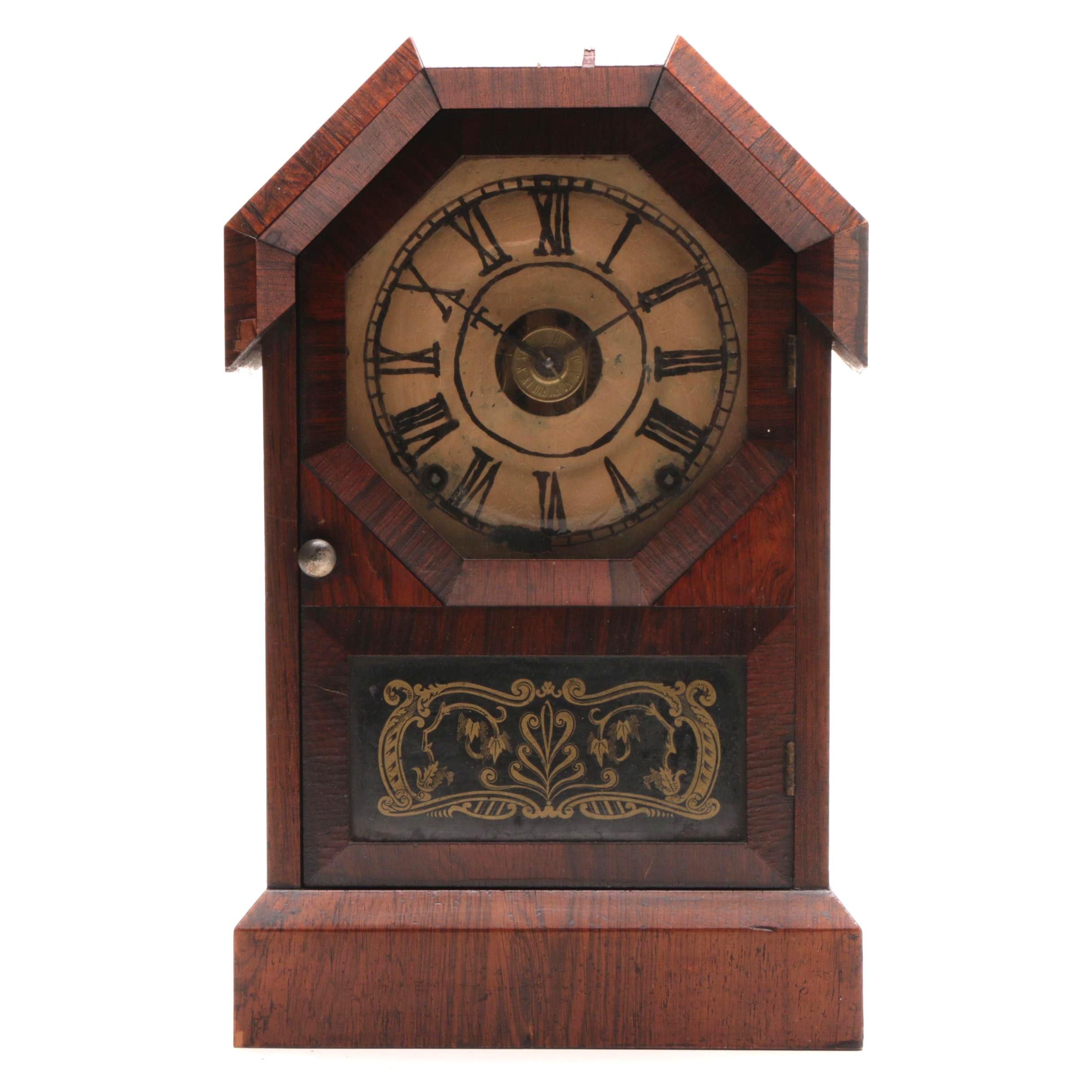 Antique Seth Thomas Octagon Top Mantel Clock