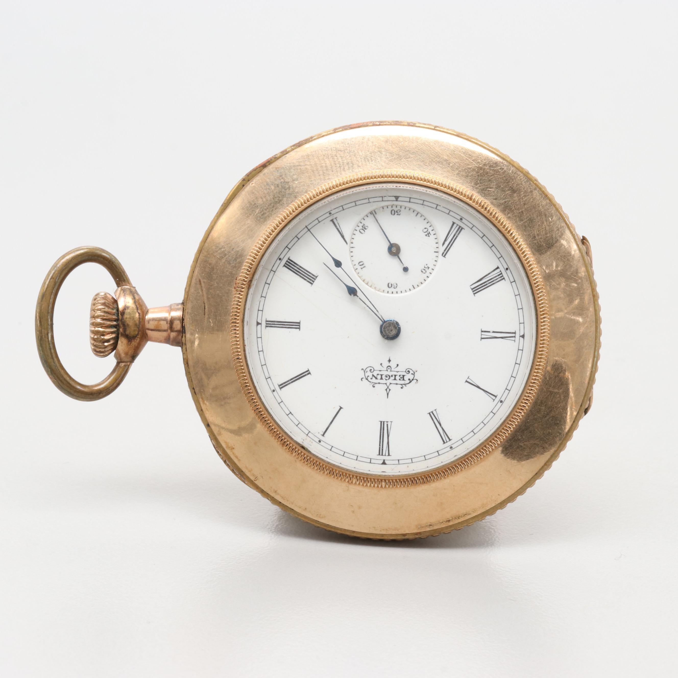 "Elgin ""Sidewinder"" Gold Filled Pocket Watch Circa 1894"