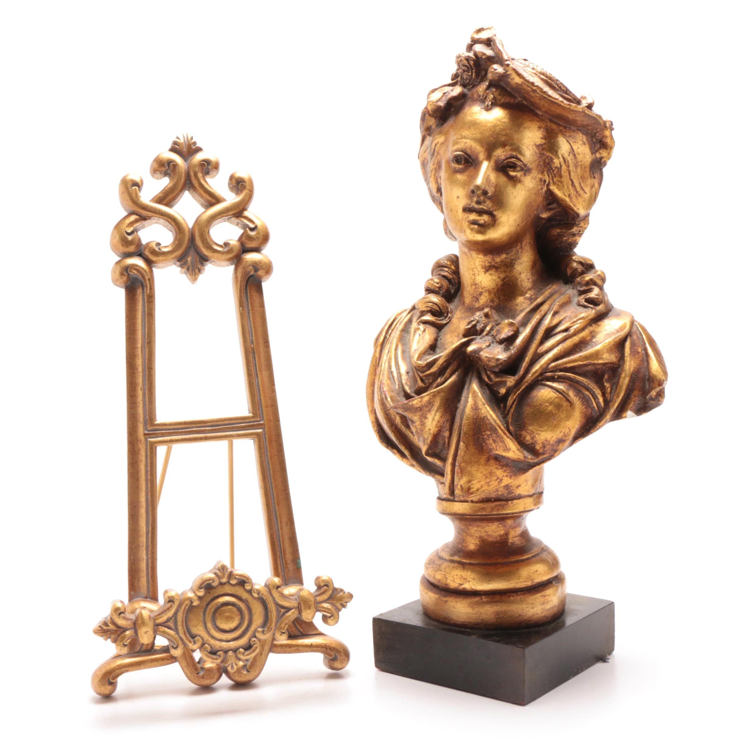 18th Century Style Gilt Bust