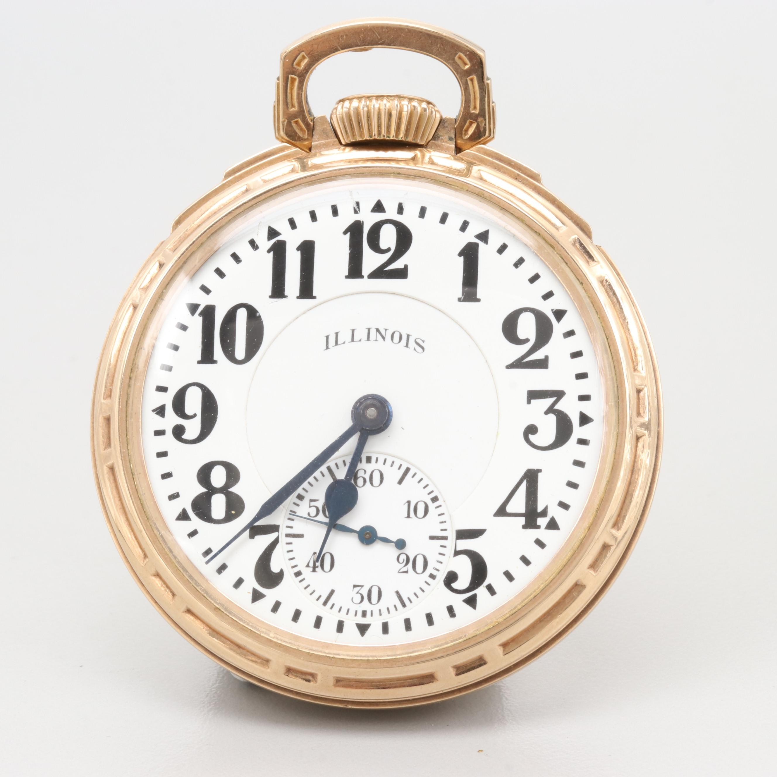 "Illinois ""Bunn Special"" 10K Gold Filled Pocket Watch 1929"